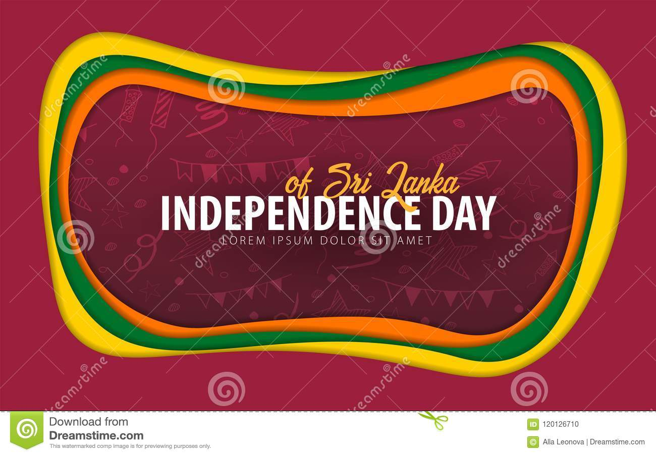 Sri lanka independence day greeting card paper cut style stock download comp m4hsunfo
