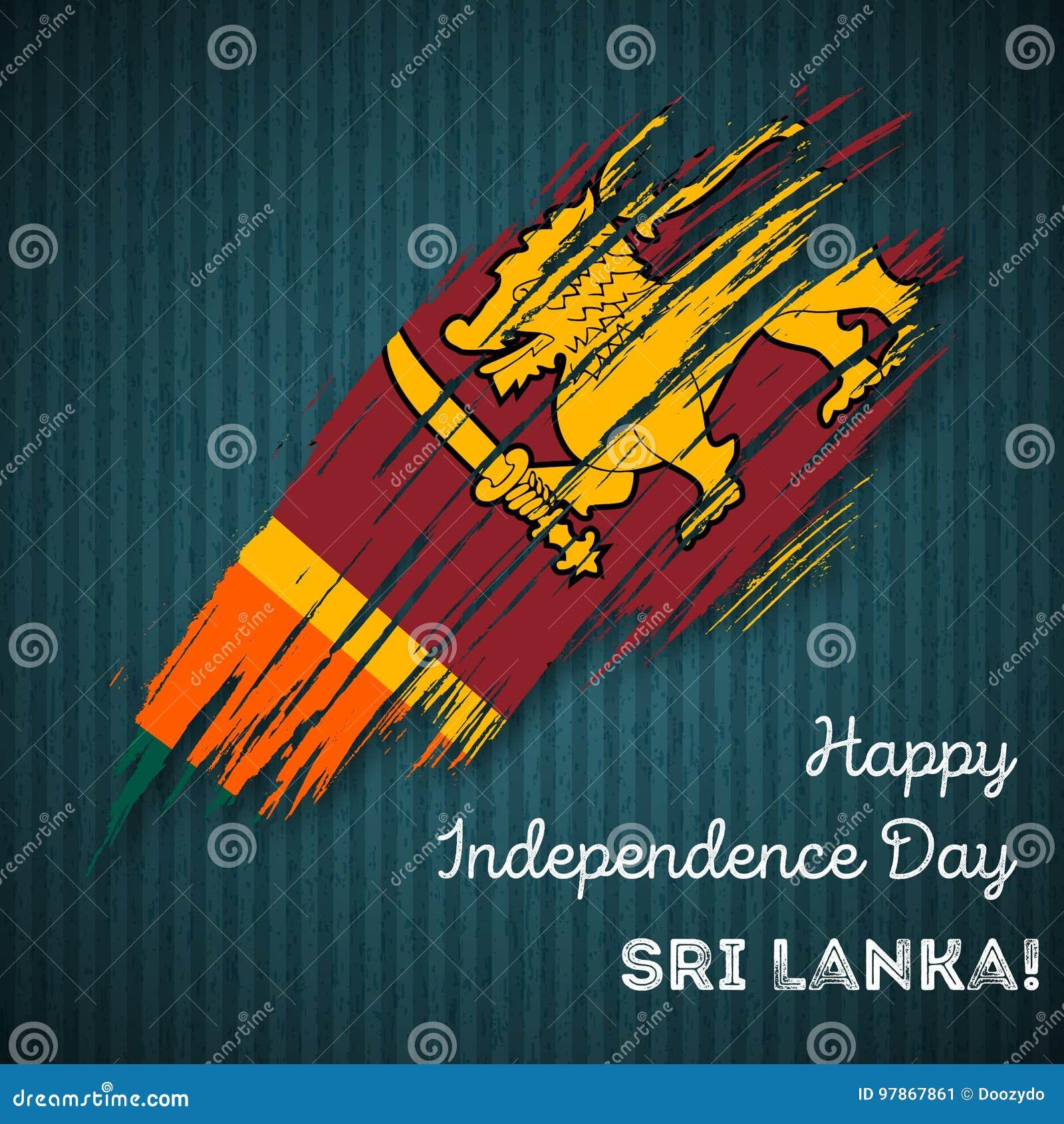 Sri Lanka Independence Day Patriotic Design Stock Vector