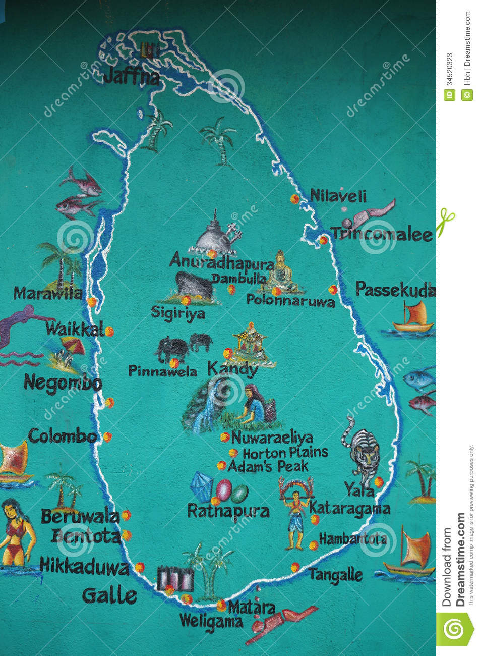 Sri Lanka map stock image Image of friendly mark simple 34520323