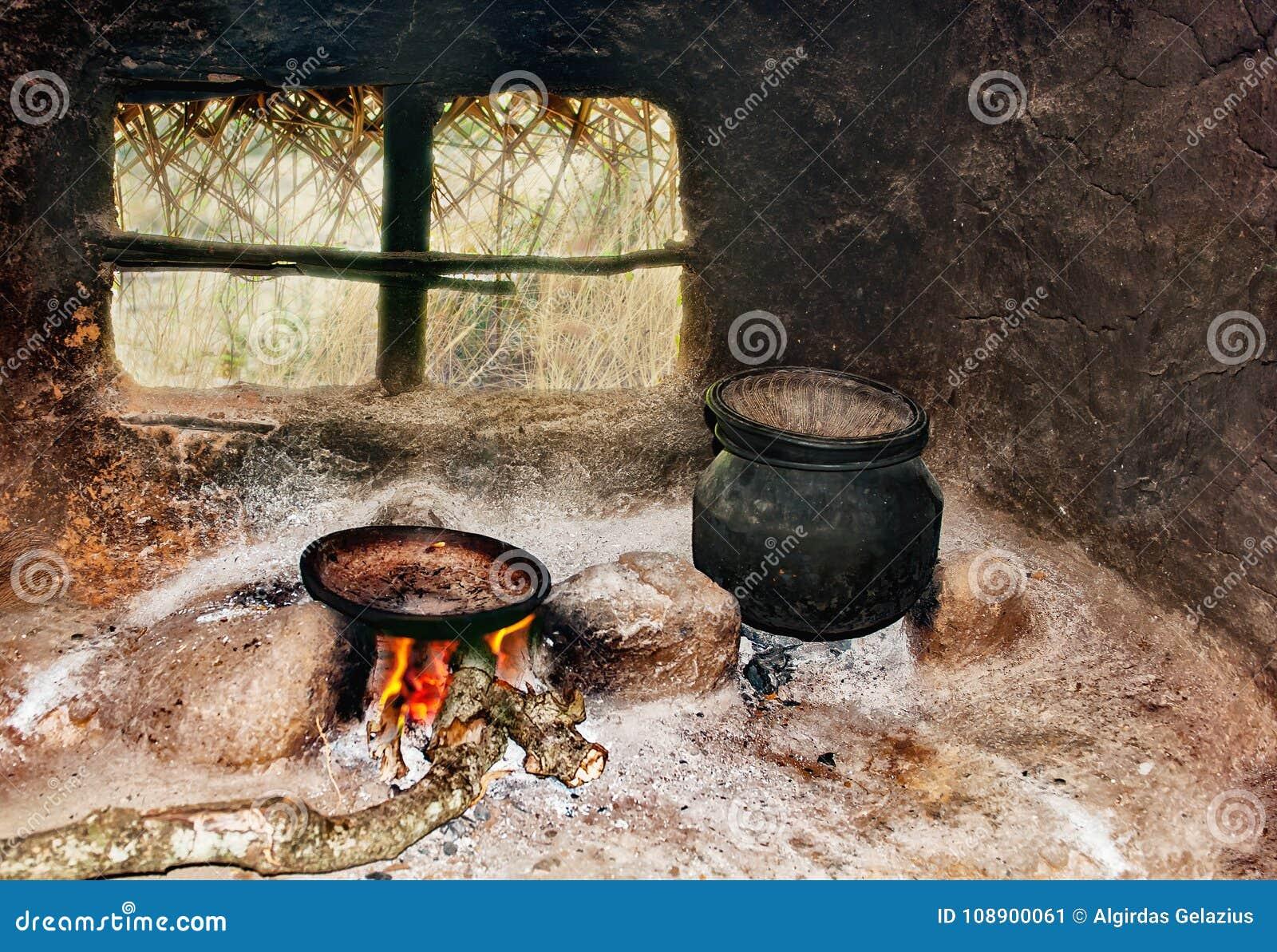 Sri Lanka-` S Schlechte Leute ` S Küche In Der Hütte Stockbild ...