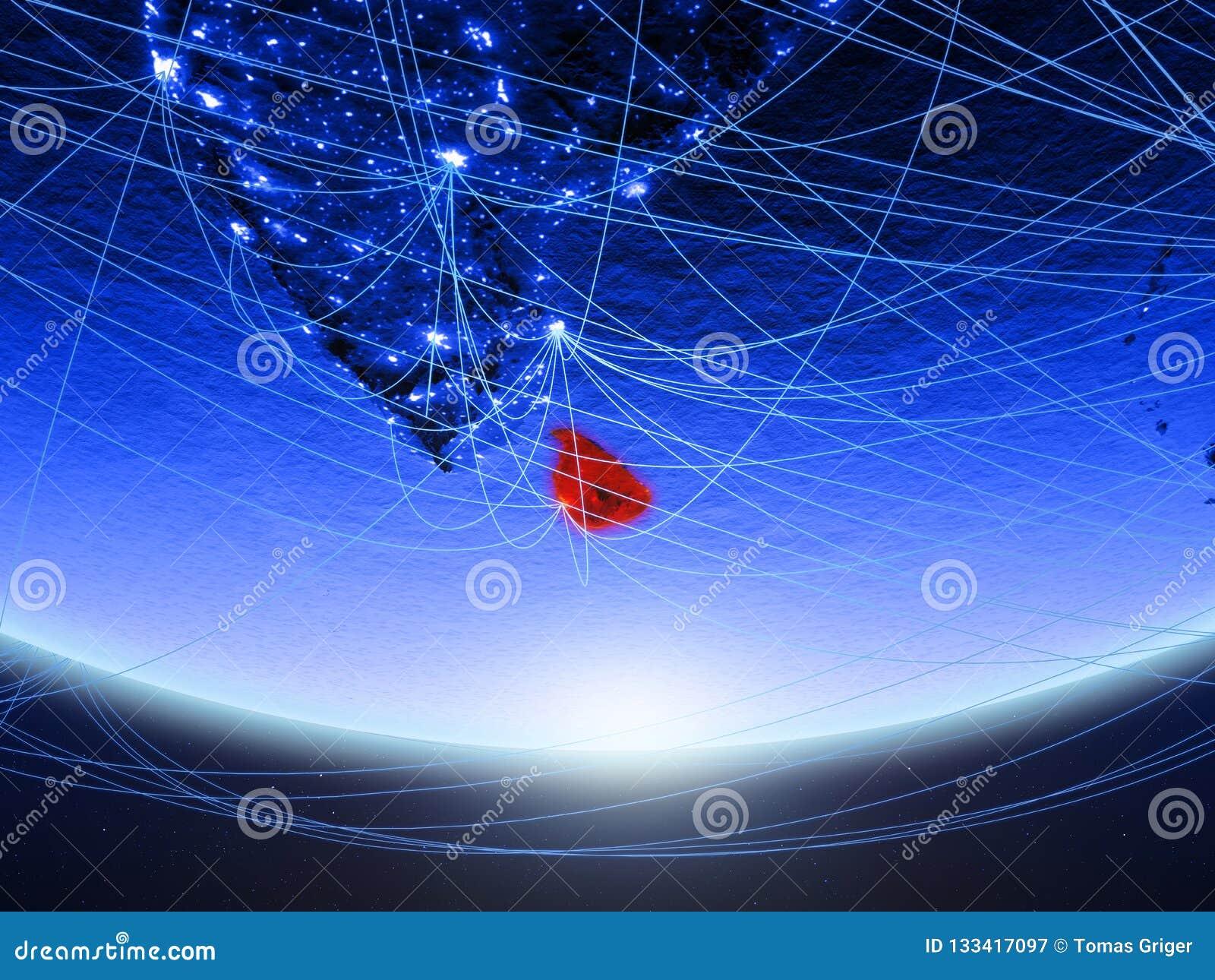 Sri Lanka vom Raum mit Netz