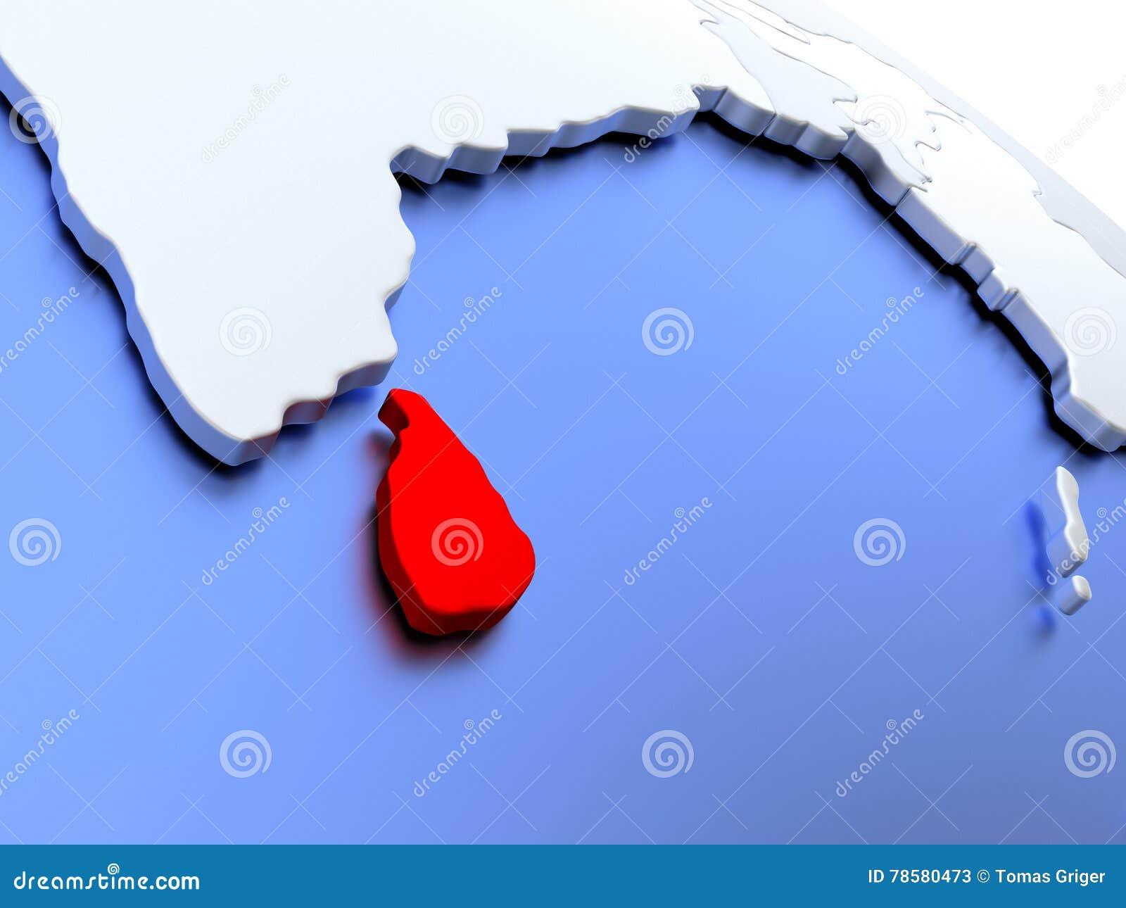 Sri Lanka on world map stock illustration. Illustration of globe ...