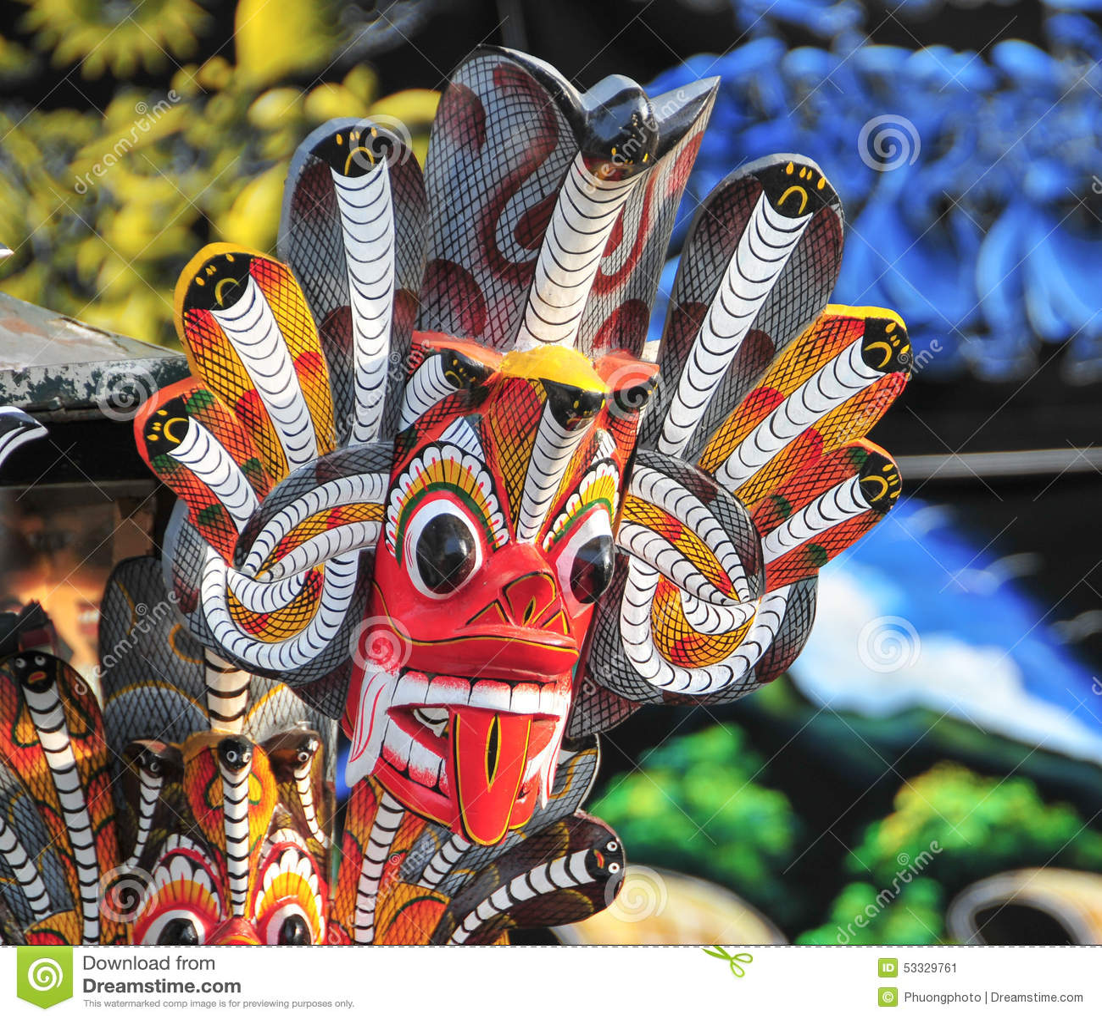 Sri Lankan Traditional Mask Stock Photo Image 53329761