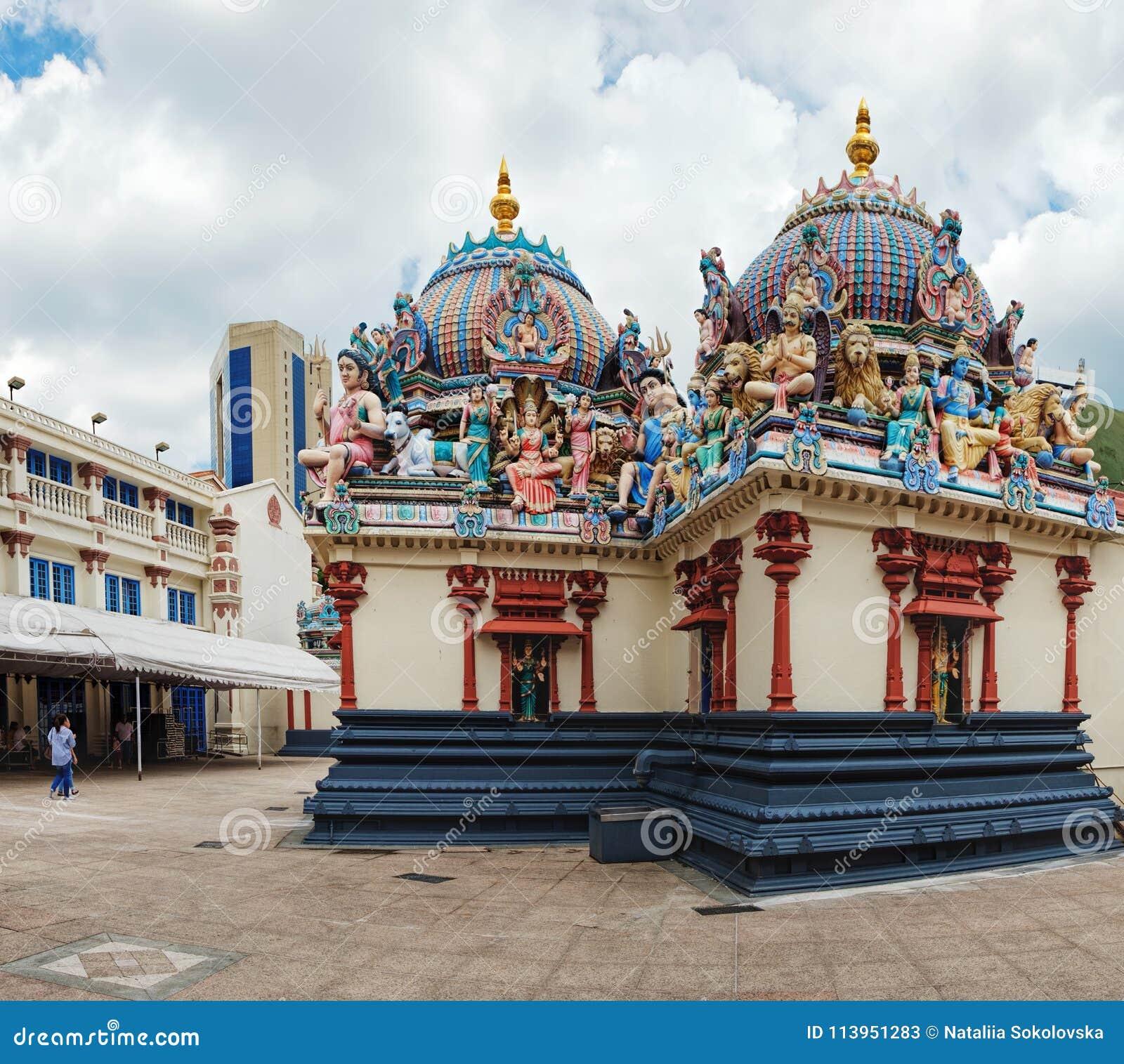 Sri Mariamman Hinduska świątynia w Chinatown, Singapur