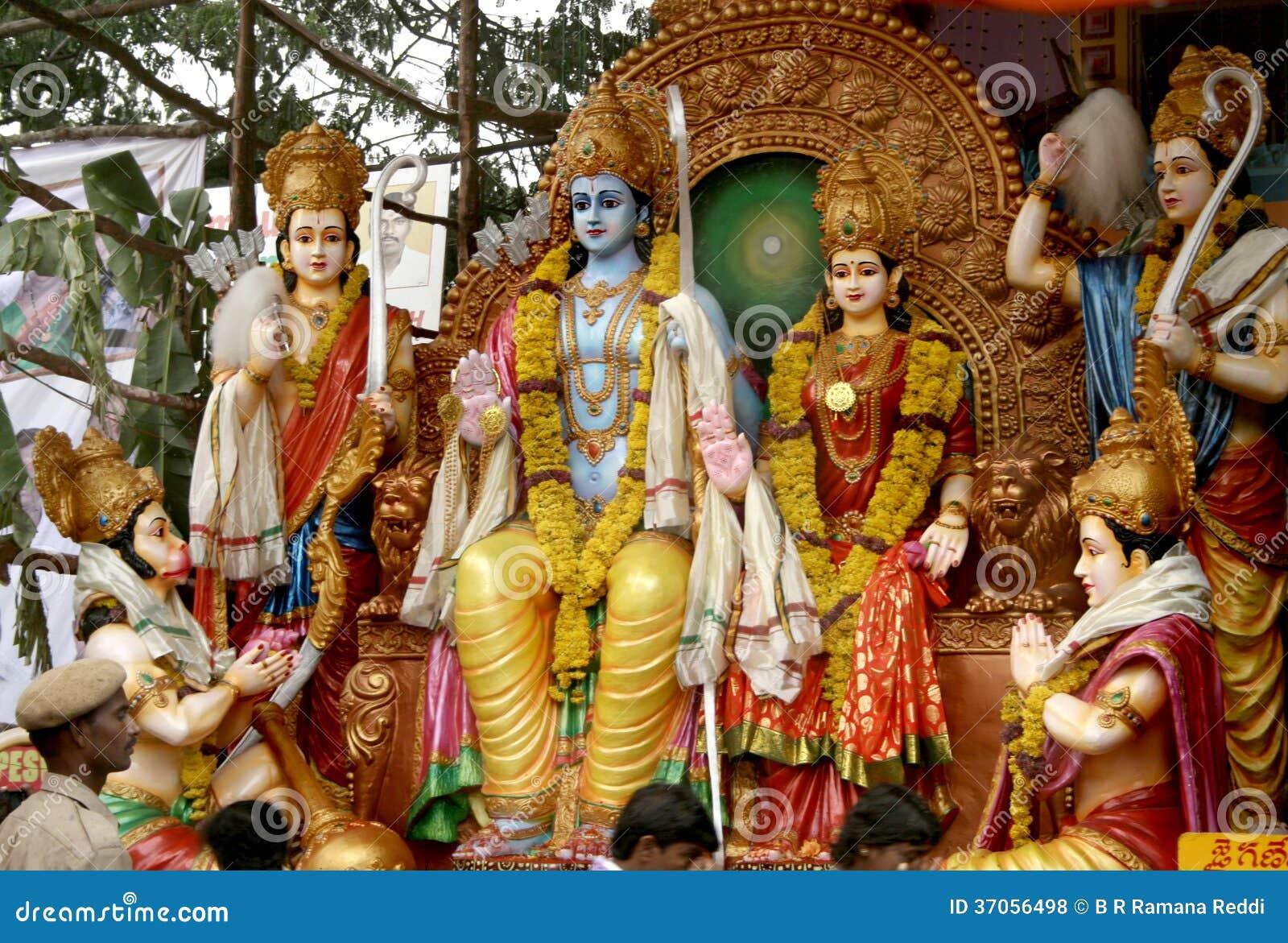Sri Rama -hindu God Editorial Stock Photo. Image Of