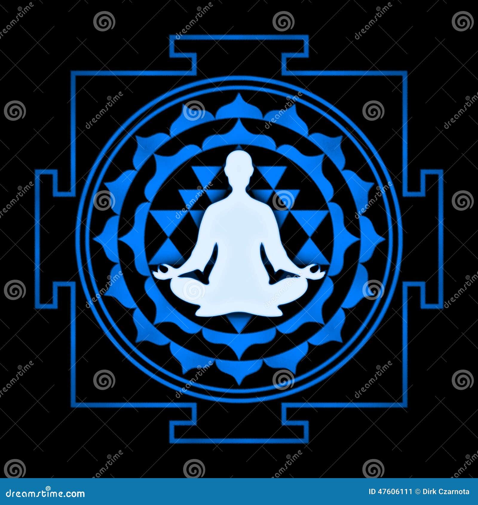 Sri Yantra Meditation stock illustration  Illustration of