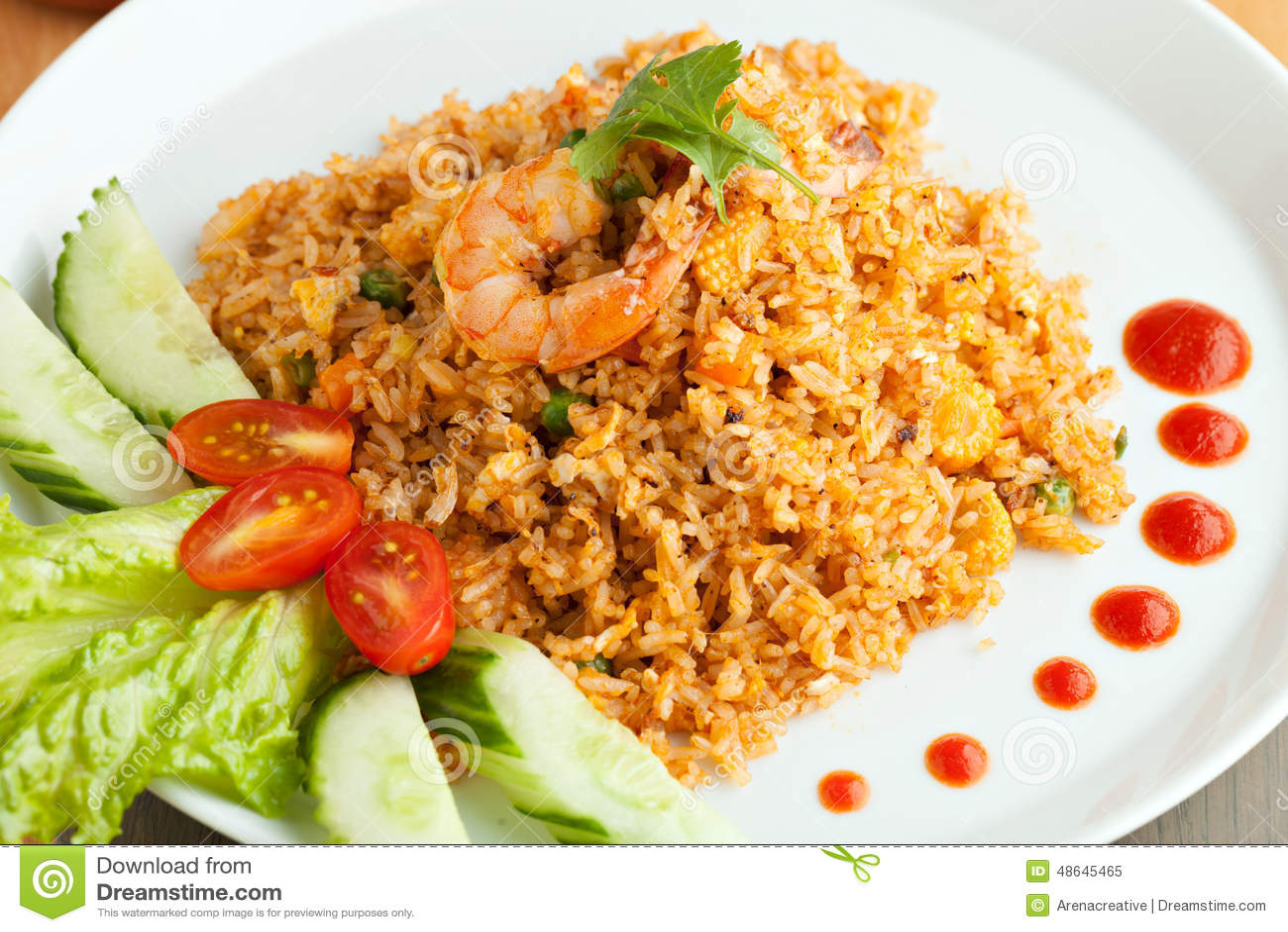 Sriracha shrimp fried rice stock image image of recipe 48645465 sriracha shrimp fried rice ccuart Images