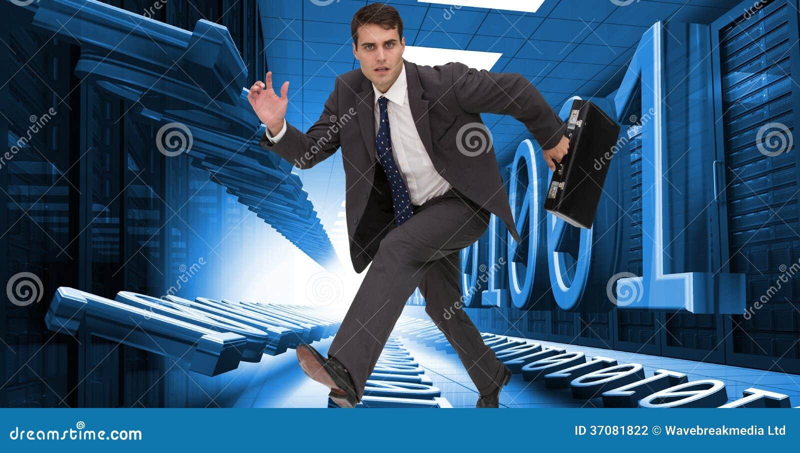 Download Srogo biznesmen w hury zdjęcie stock. Obraz złożonej z digitalis - 37081822