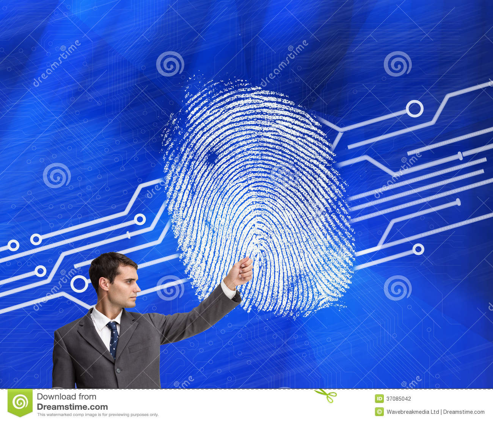 Download Srogo biznesmena wskazywać zdjęcie stock. Obraz złożonej z digitise - 37085042