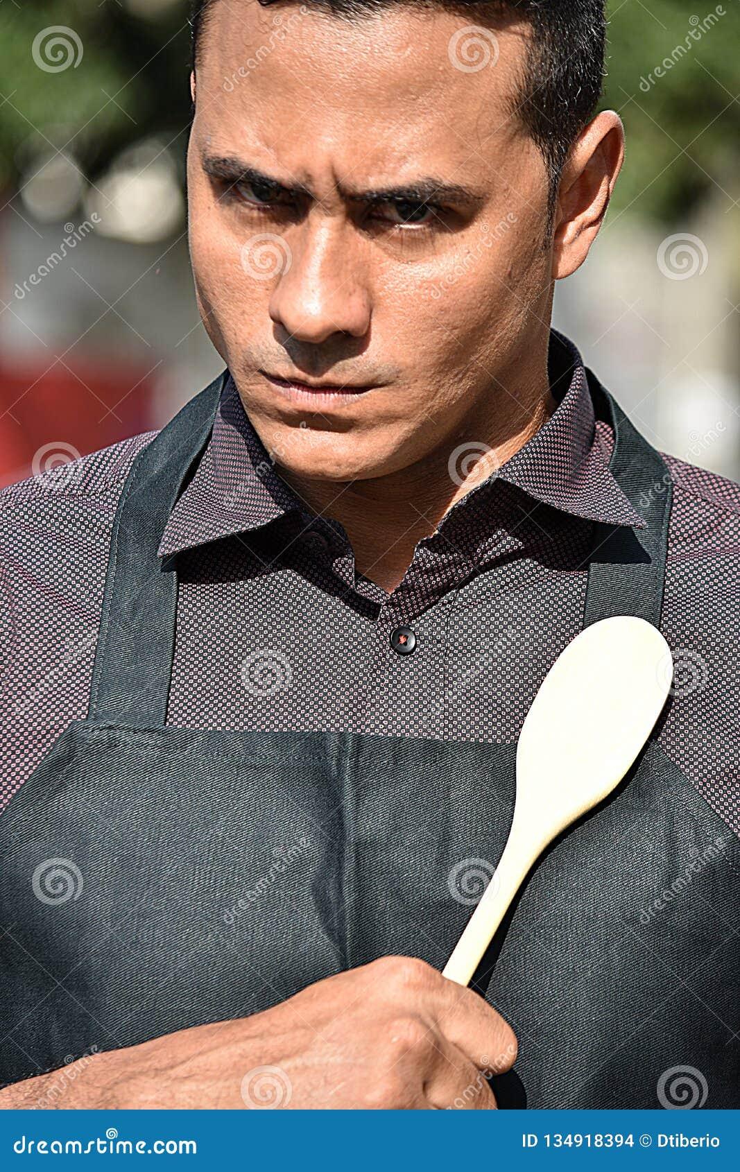 Srogo Dorosłej samiec szef kuchni Lub Cook