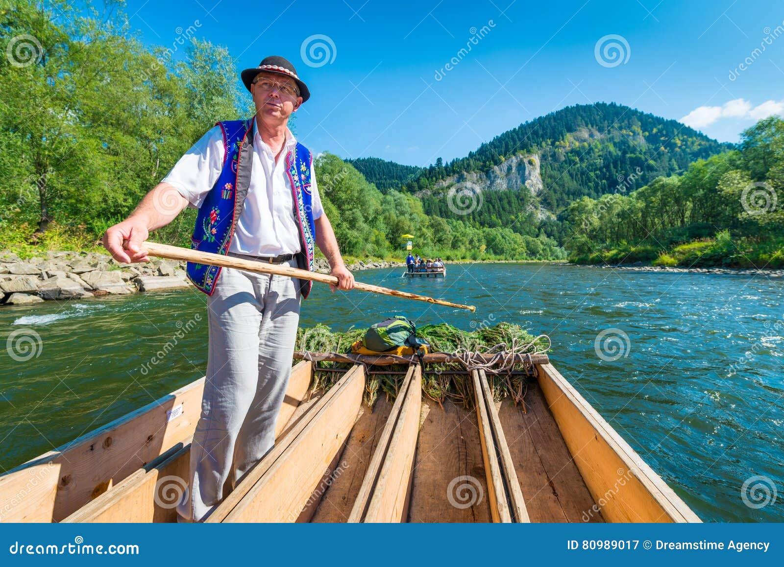 Sromowce Nizne, Poland - August 25, 2015. Dunajec River Gorge
