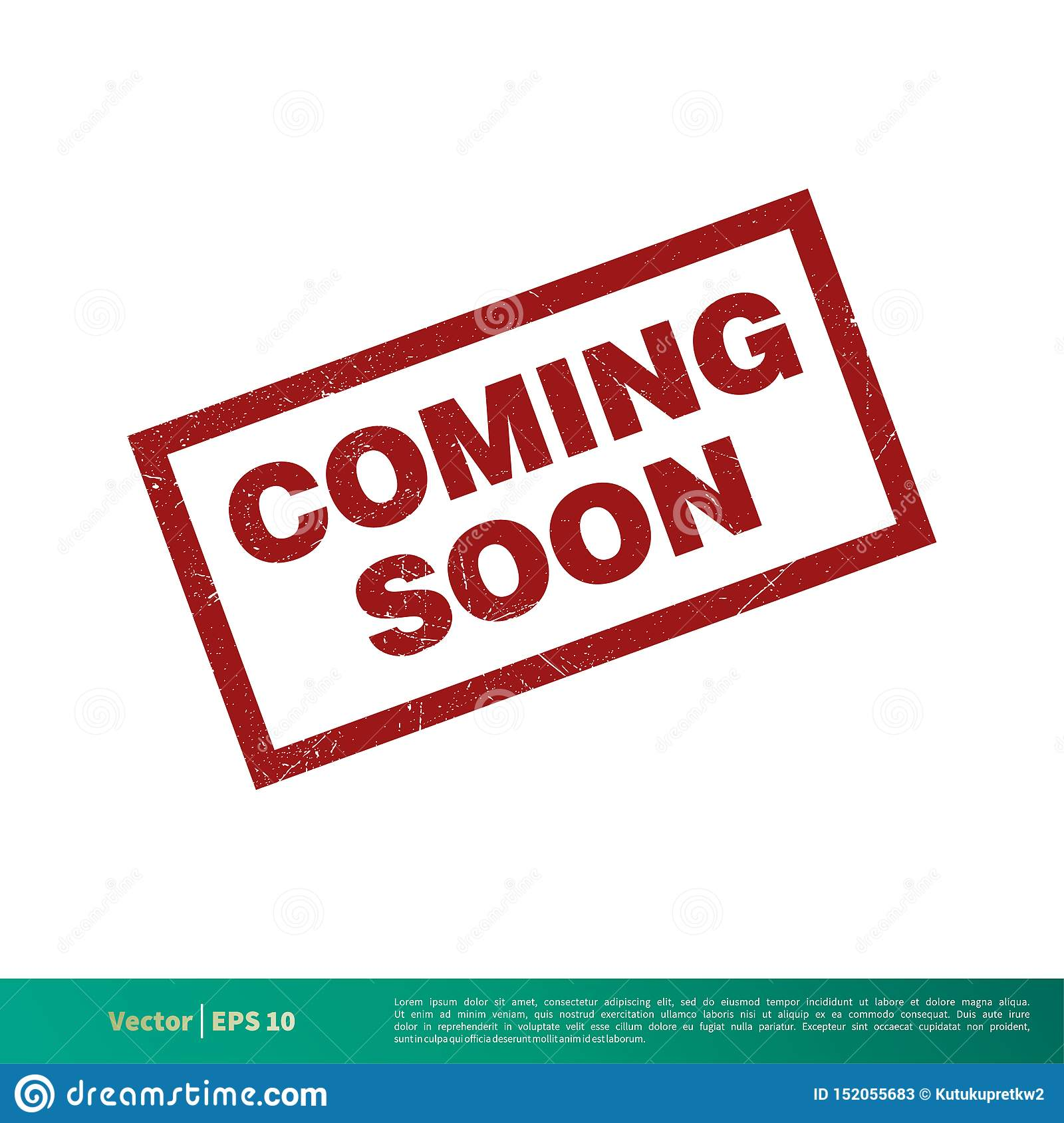 Coming Soon Red Grunge Banner Vector Template Illustration Design Vector Eps 10 Stock Vector Illustration Of Advertising Print 152055683