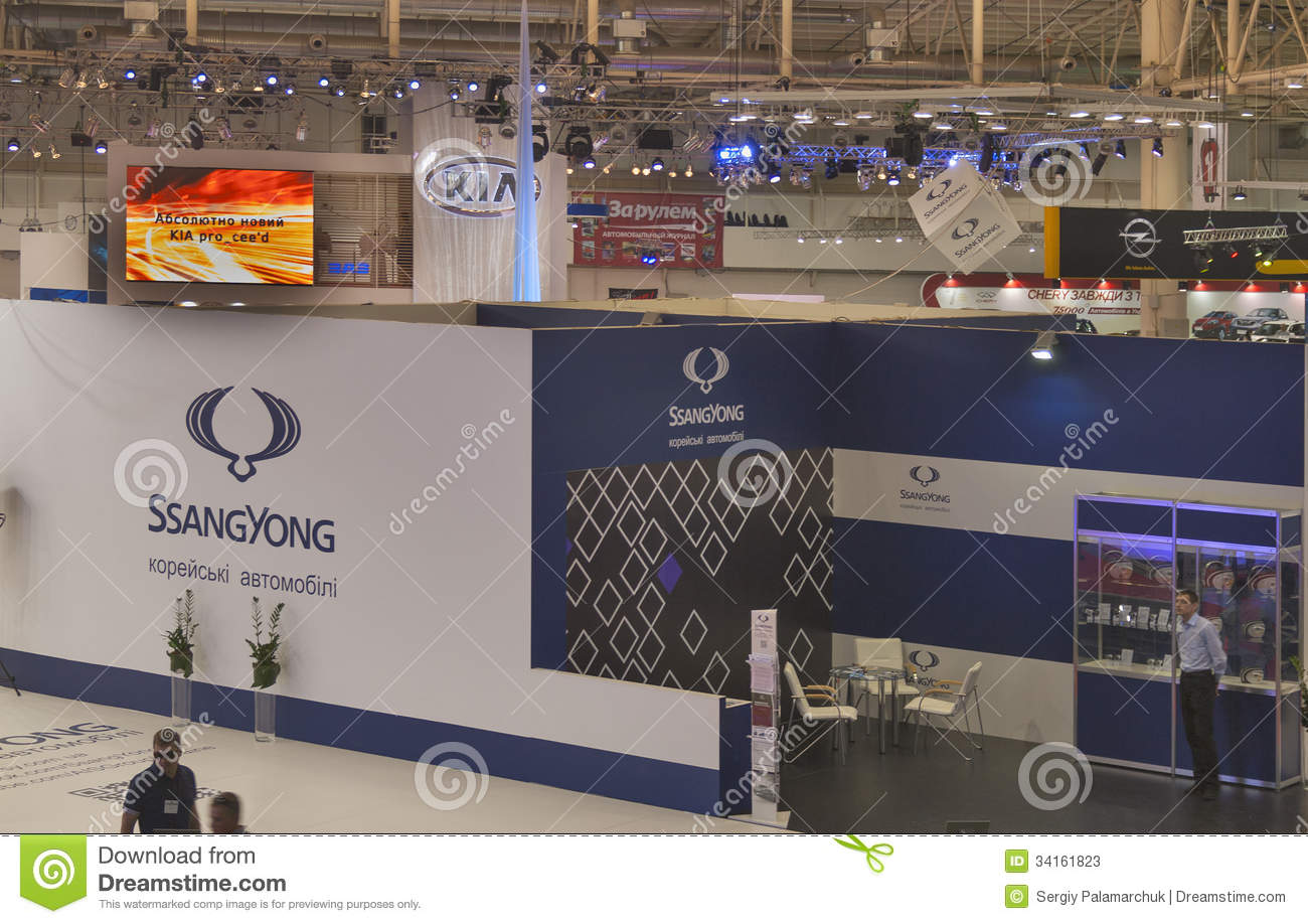 Exhibition Booth For Rental Sia : Ssangyong booth at international motor show editorial
