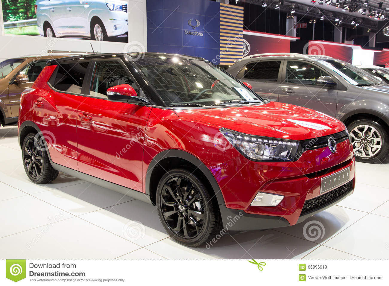 SsangYong Tivoli The New 4x4 Crossover SUV Car Editorial ...