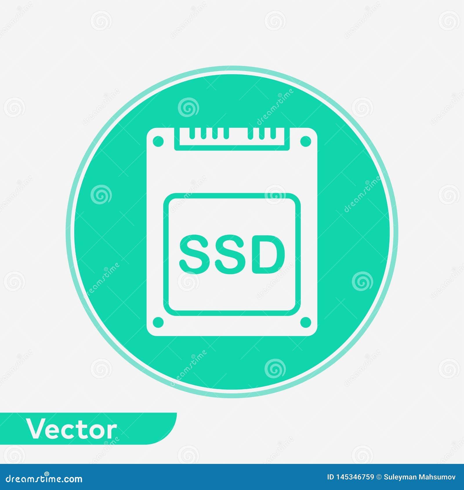 SSD vector icon sign symbol