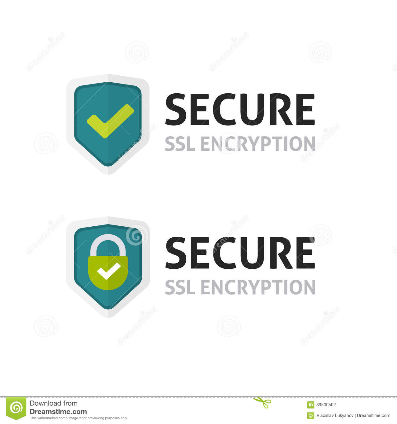 Ssl Certificate Vector Icon Secure Encryption Shield Secure Lock