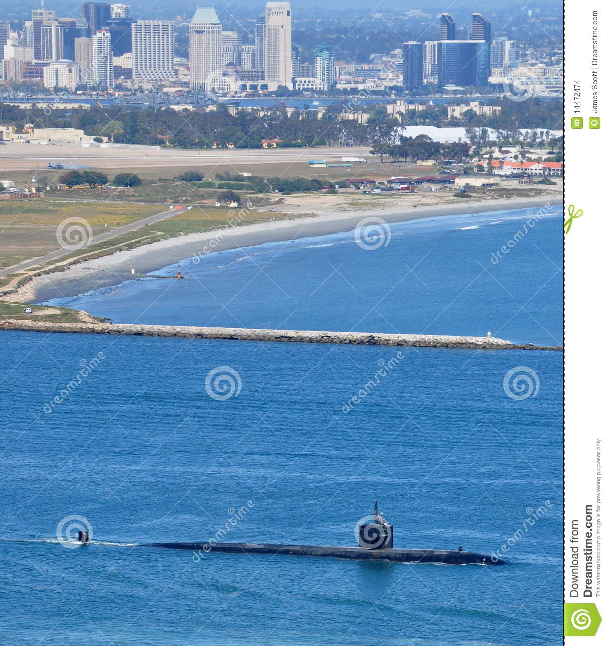 SSN Los Angeles Class Attack Submarine Stock Photo - Image