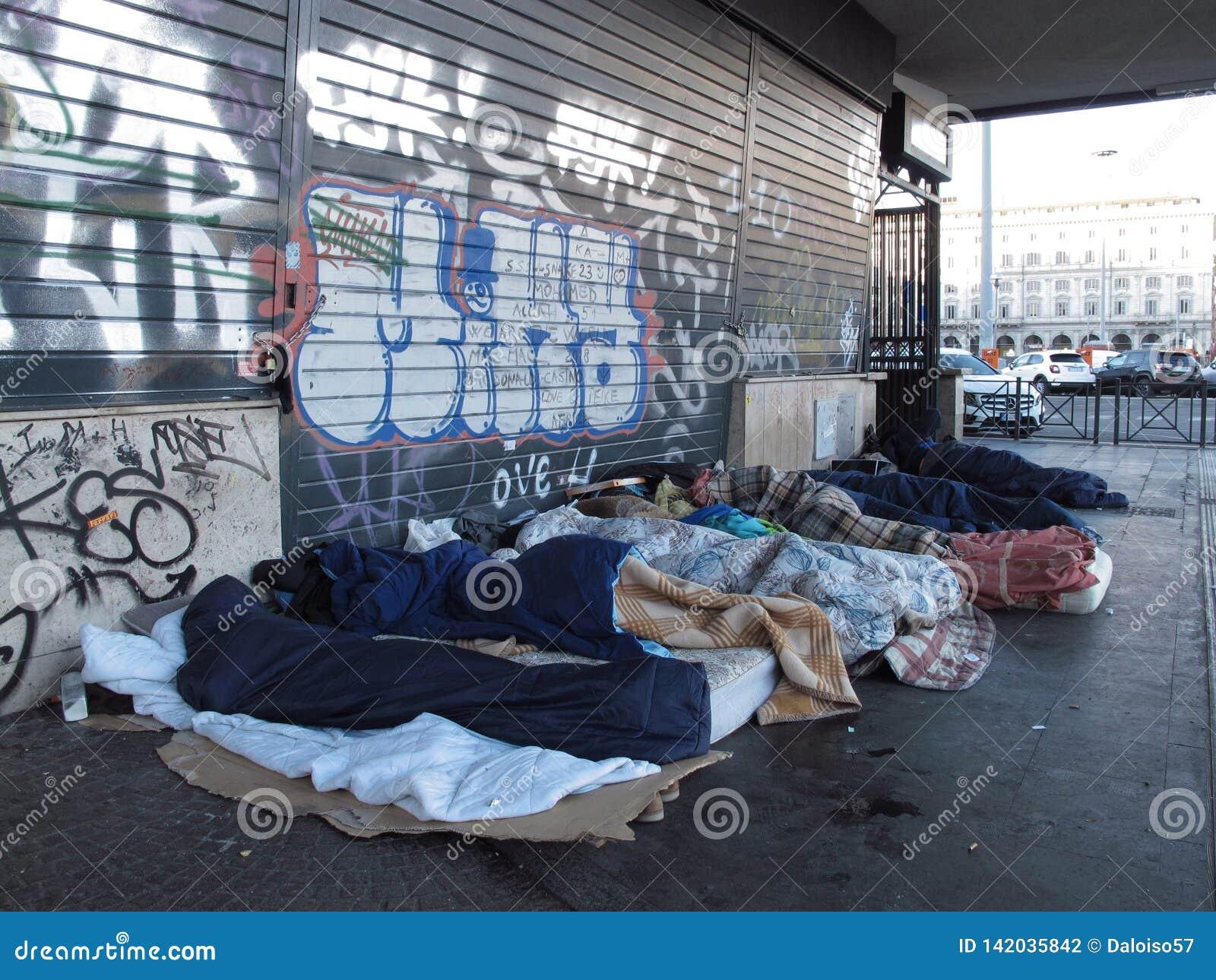 Städtische Verminderung in Rom, Italien