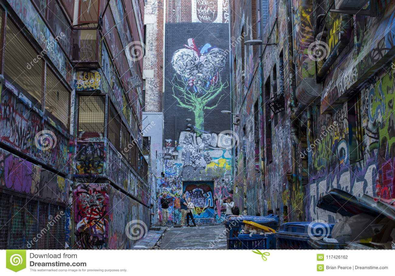 Städtische Gasse Street Art Melbournes