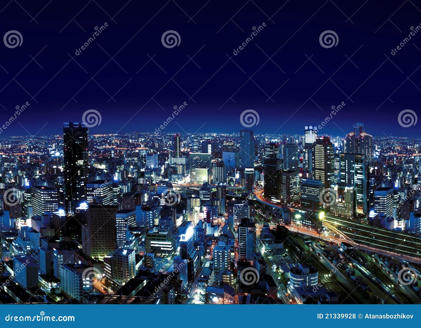 Städtische Stadt bis zum Night