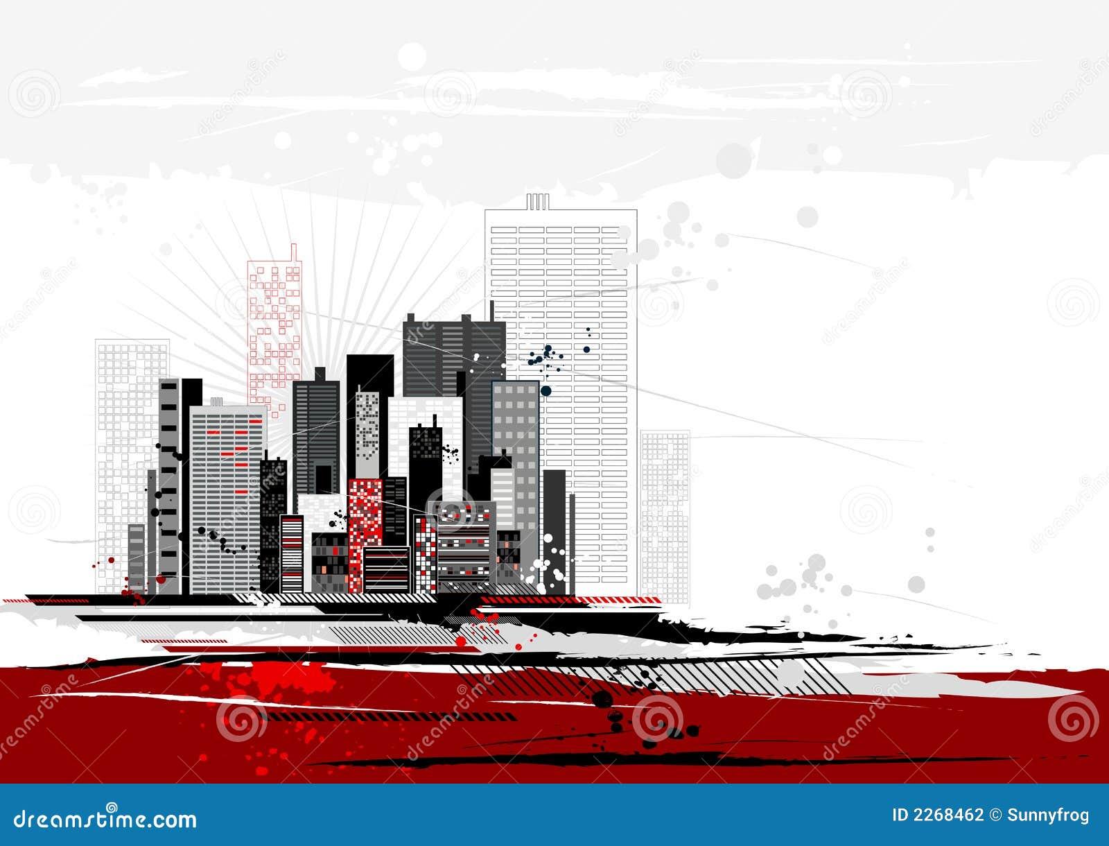 Städtische Szene, Vektor