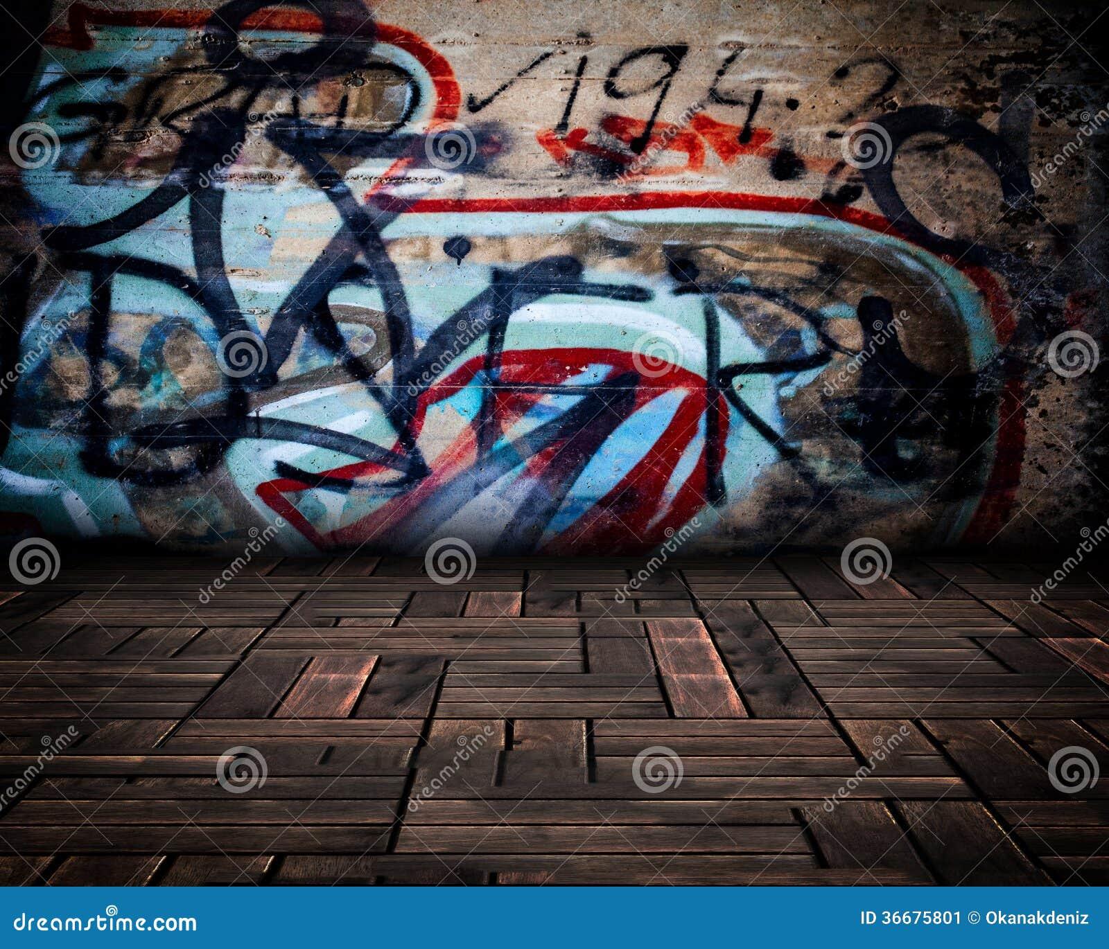st dtischer stadiums graffiti raum stockbild bild 36675801. Black Bedroom Furniture Sets. Home Design Ideas