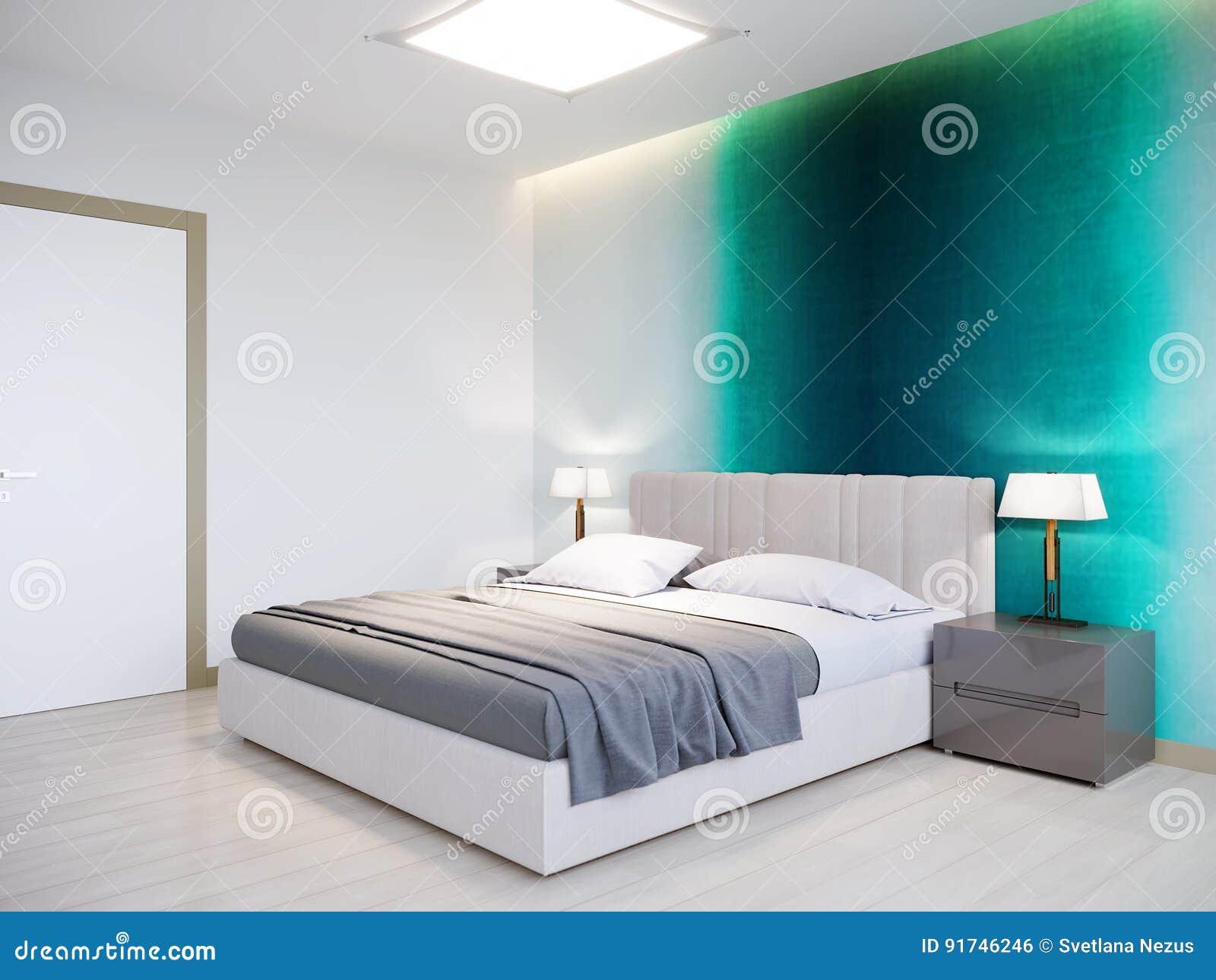 Städtisches Zeitgenössisches Modernes Schlafzimmer ...