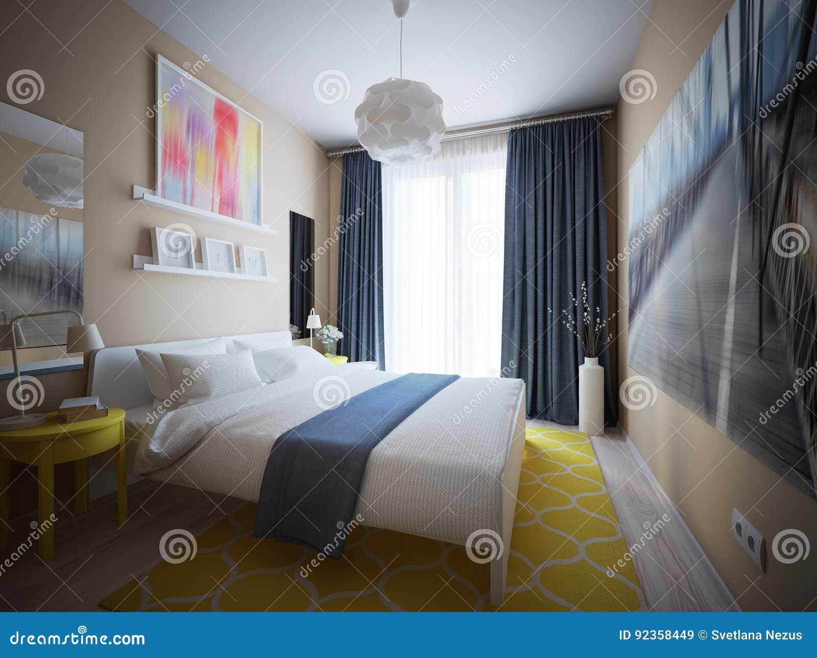 Städtisches Zeitgenössisches Modernes Skandinavisches Schlafzimmer