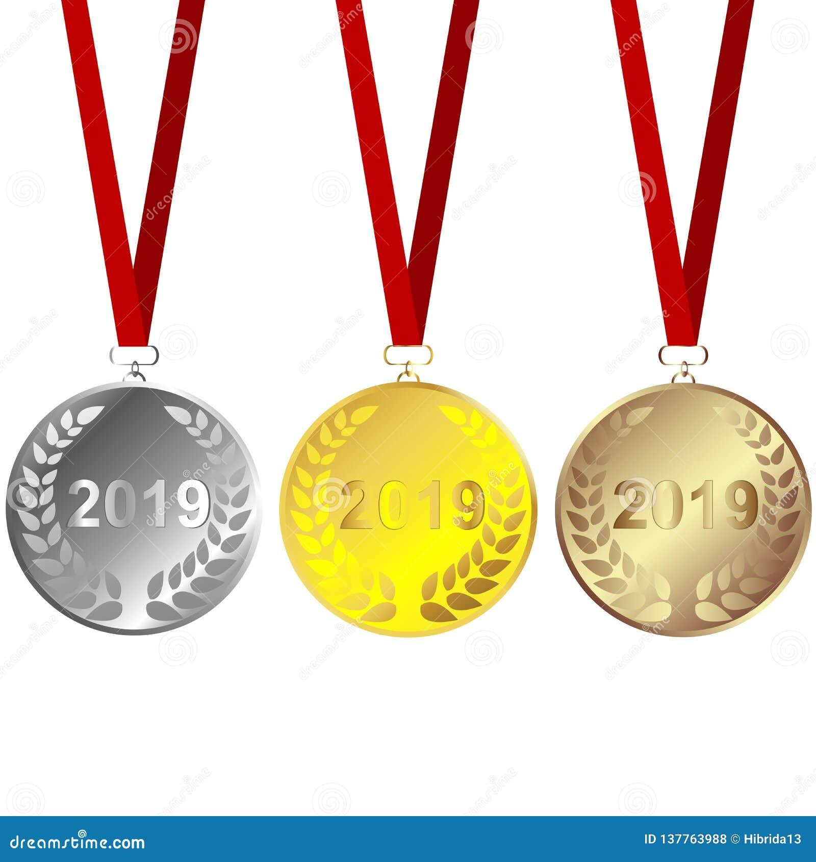 Ställ in av 2019 medaljer