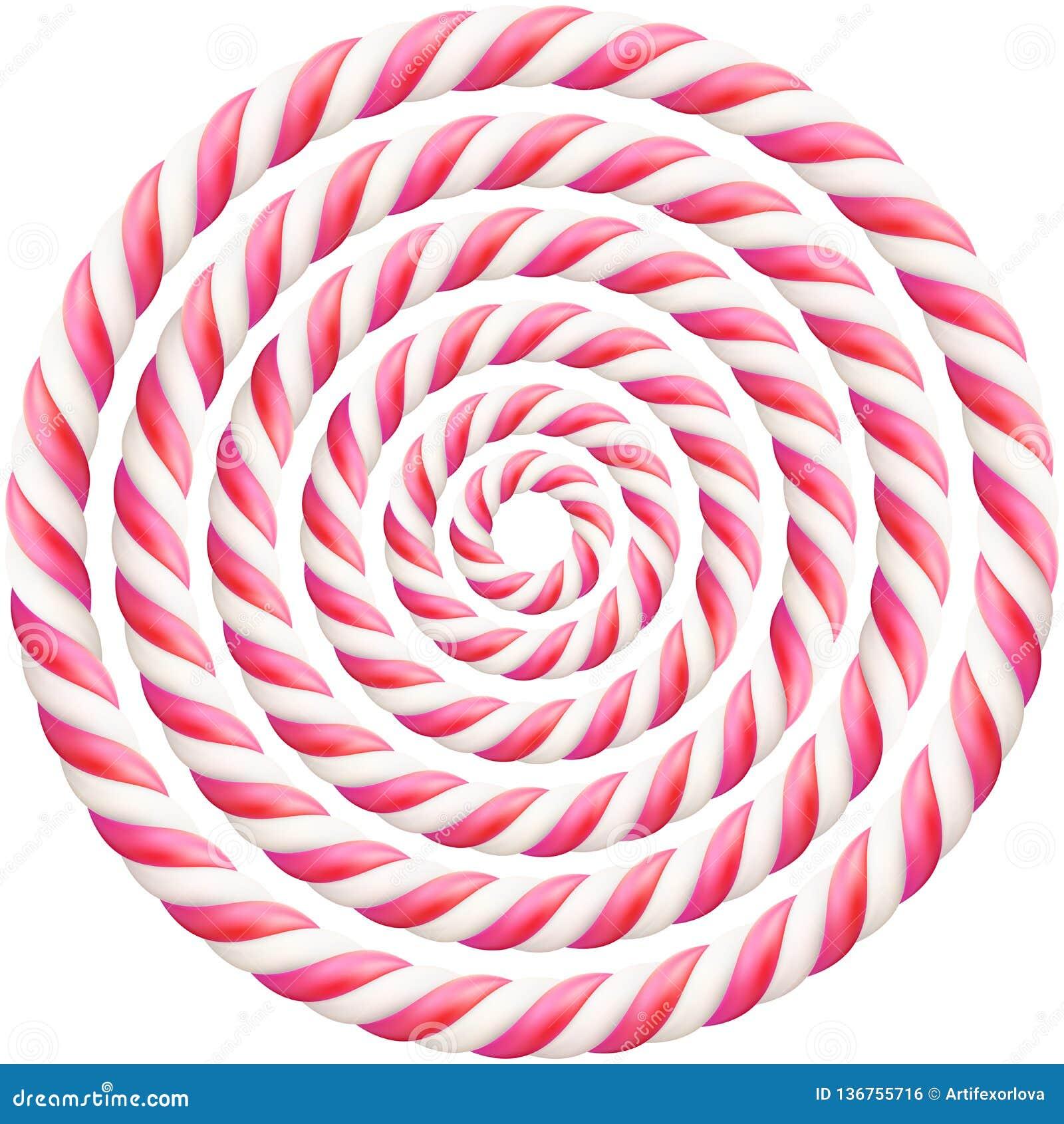 Ställ in av rosa vriden ram för rotting för hård godis med skugga 10 eps