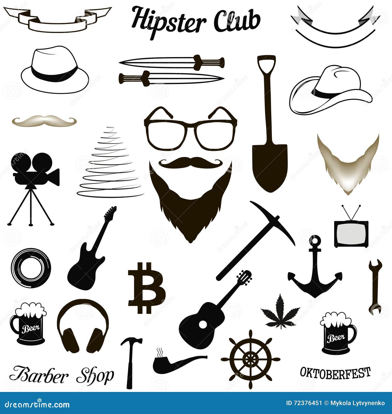 Ställ in hipstersymboler