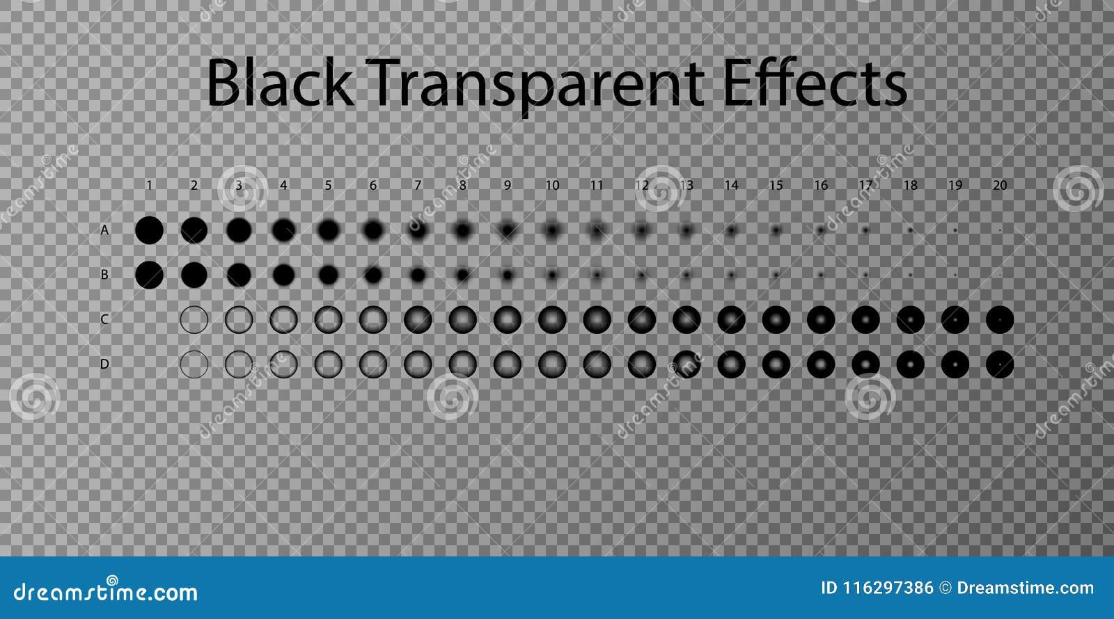 Ställ in illustrationvektoreffekt Genomskinliga ljusa effekter och mousserar Ställ in vektoreffekt Lutningeffekt Realistisk skugg