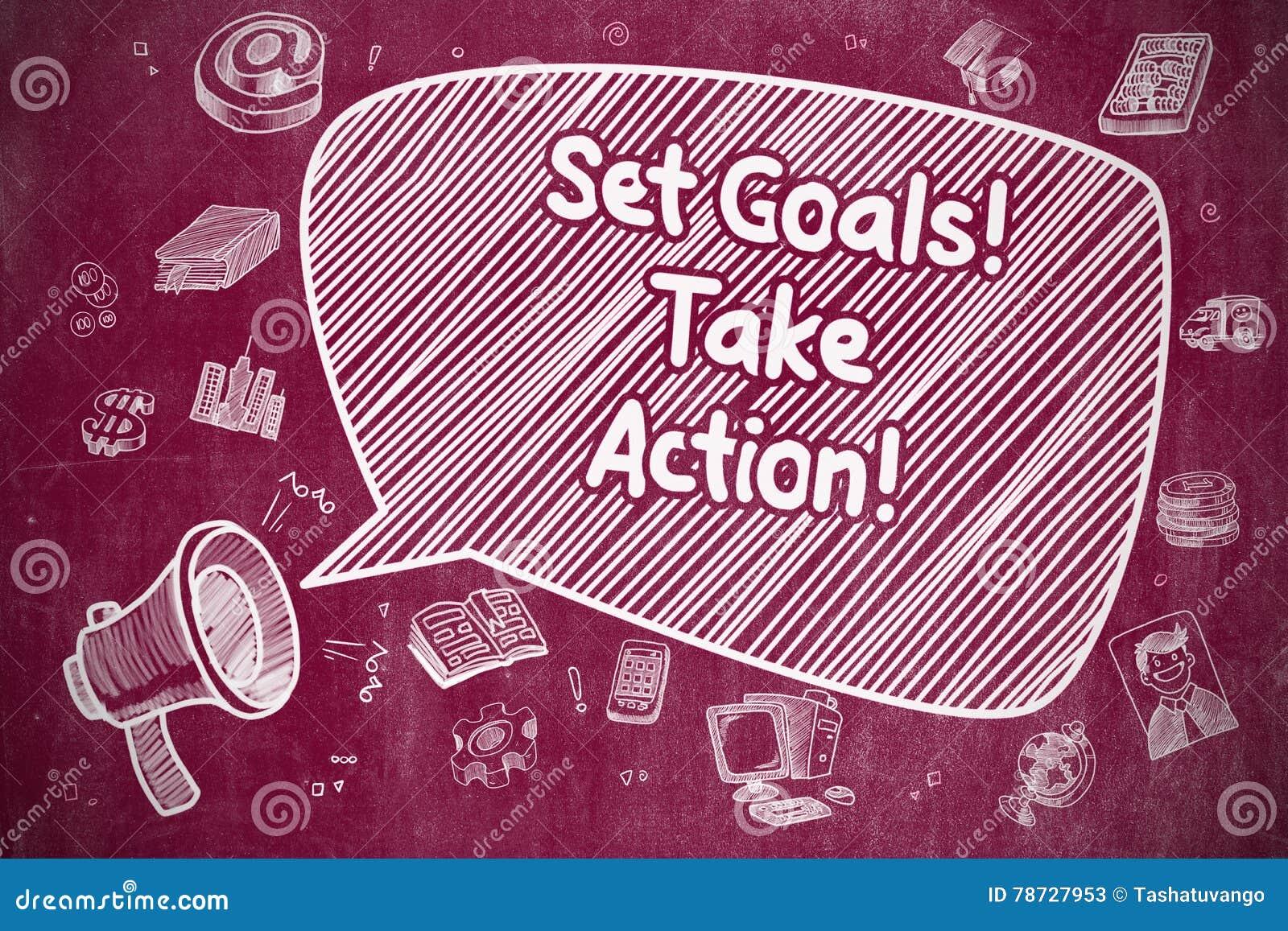 Ställ in mål tar handling - affärsidé