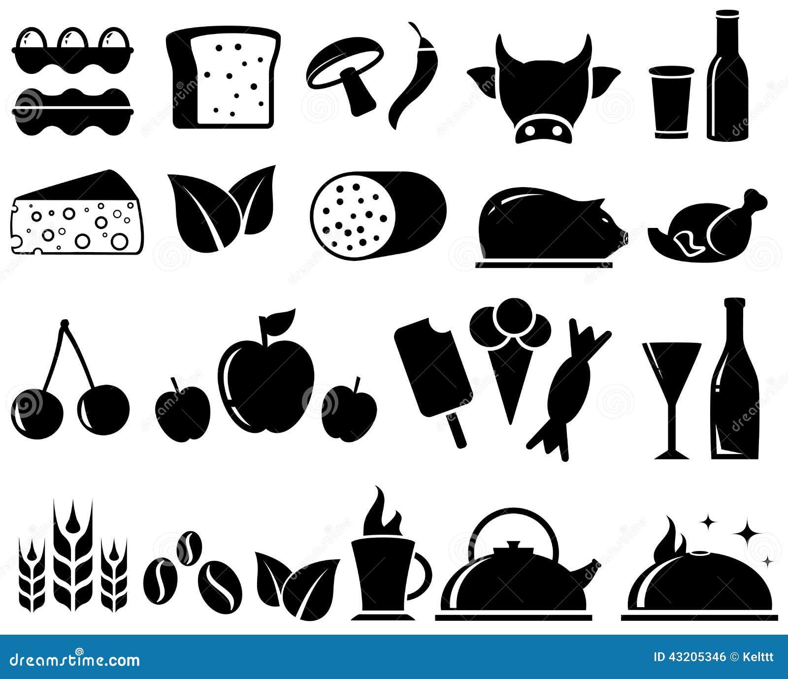 Download Ställ in matobjekt vektor illustrationer. Illustration av konfekt - 43205346