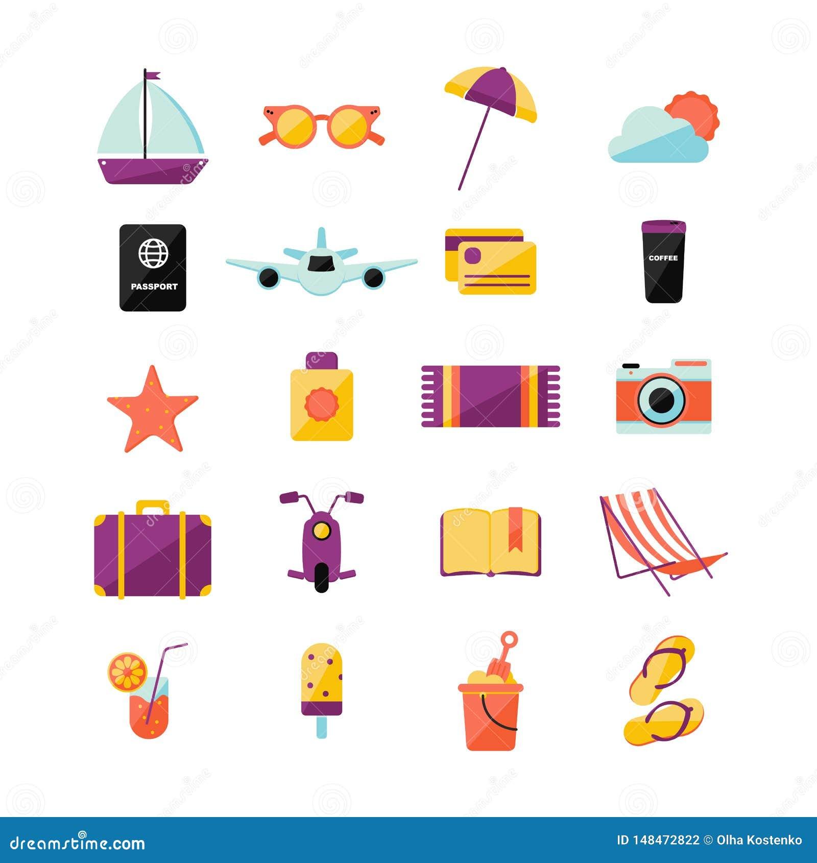 Ställ in med olika sommarsymboler