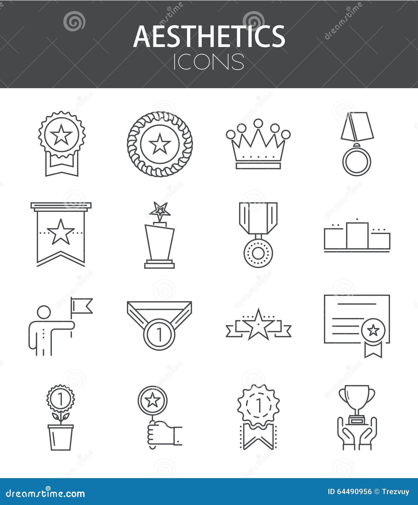 Ställde den moderna tunna linjen in lägenhetdesign för vektorn av symboler