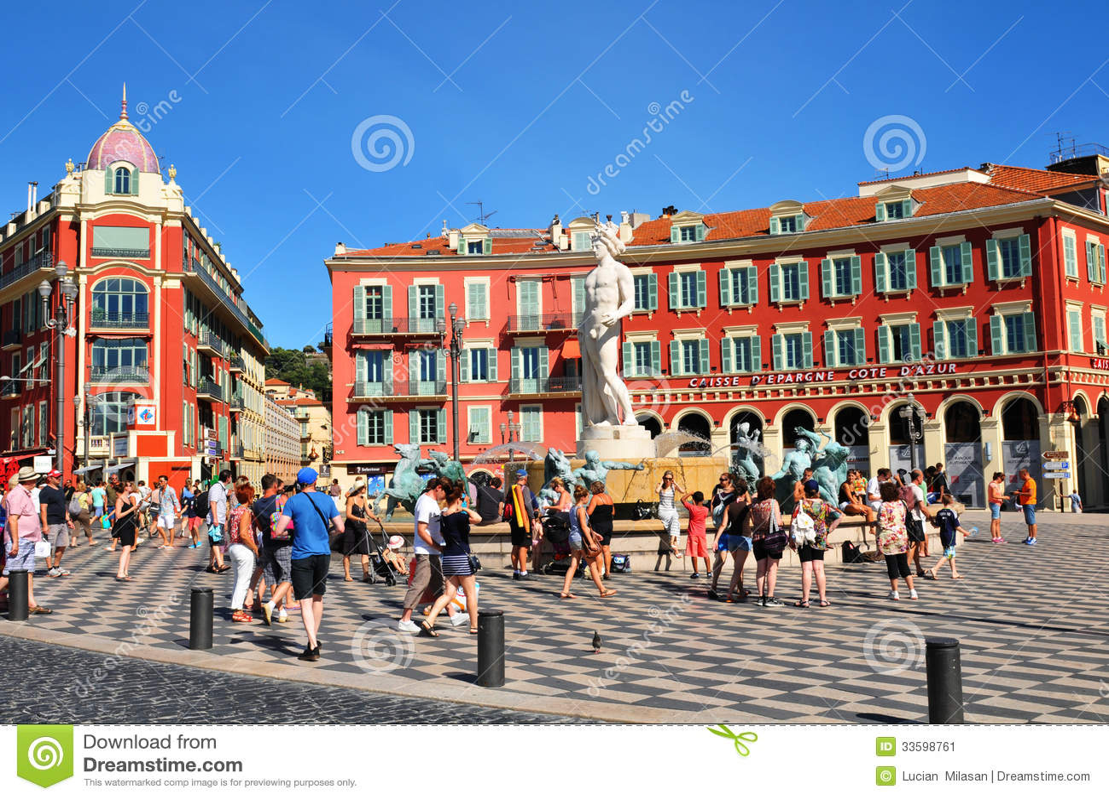 Ställe Massena i Nice, Frankrike