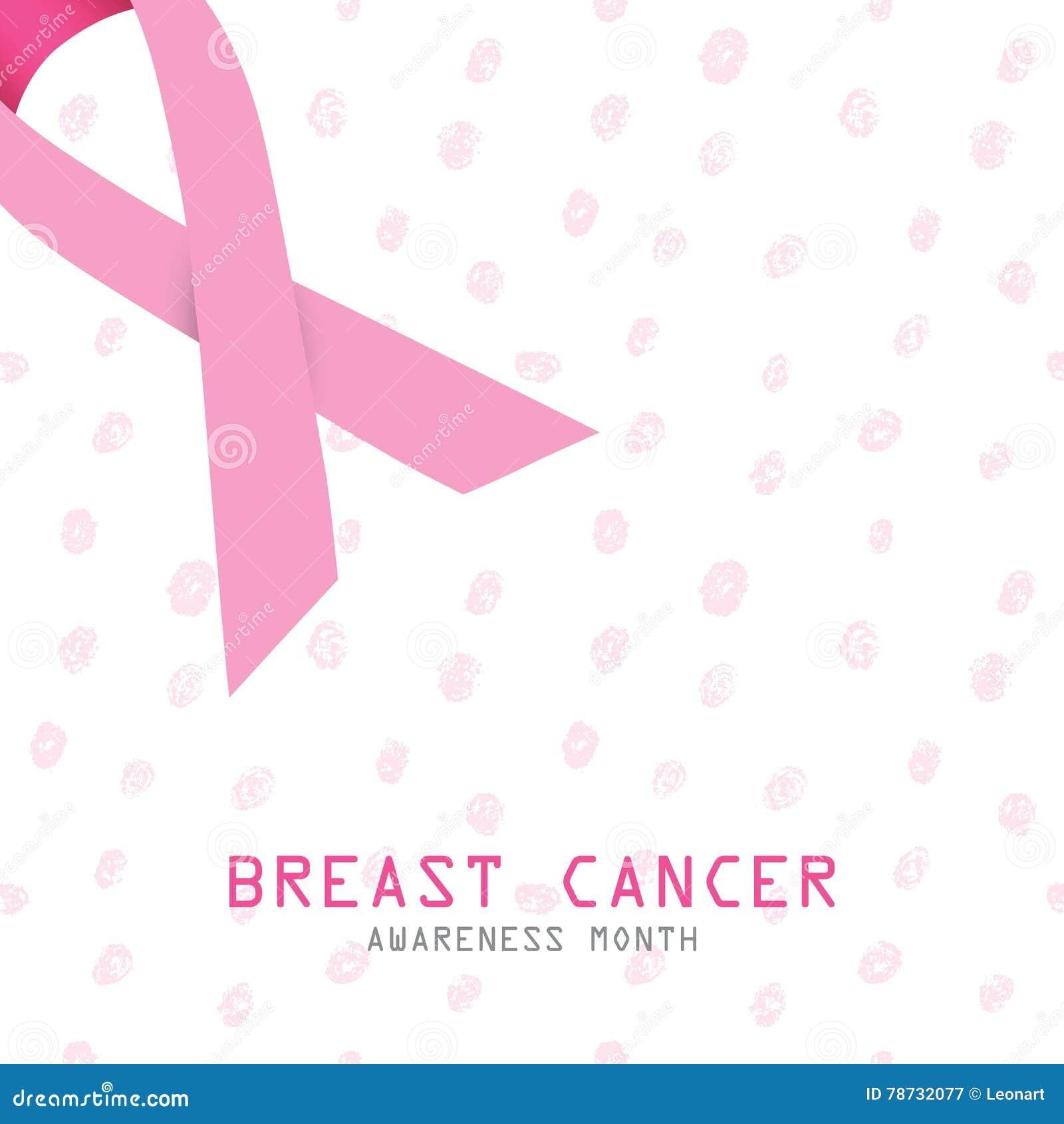 Stämpel för fund för find för bröstcancerbotslagsmål post pink bandet Symbol för bröstcancer