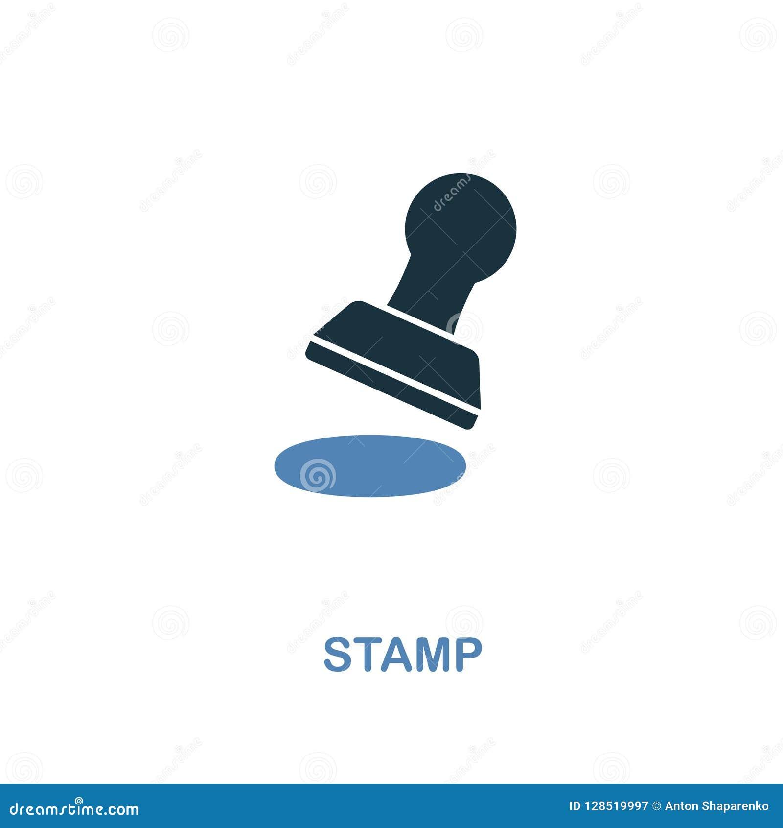 Stämpelsymbolen färgar itu design Perfekta symboler för PIXEL från symbolssamling för personlig finans UI och UX Illustration av