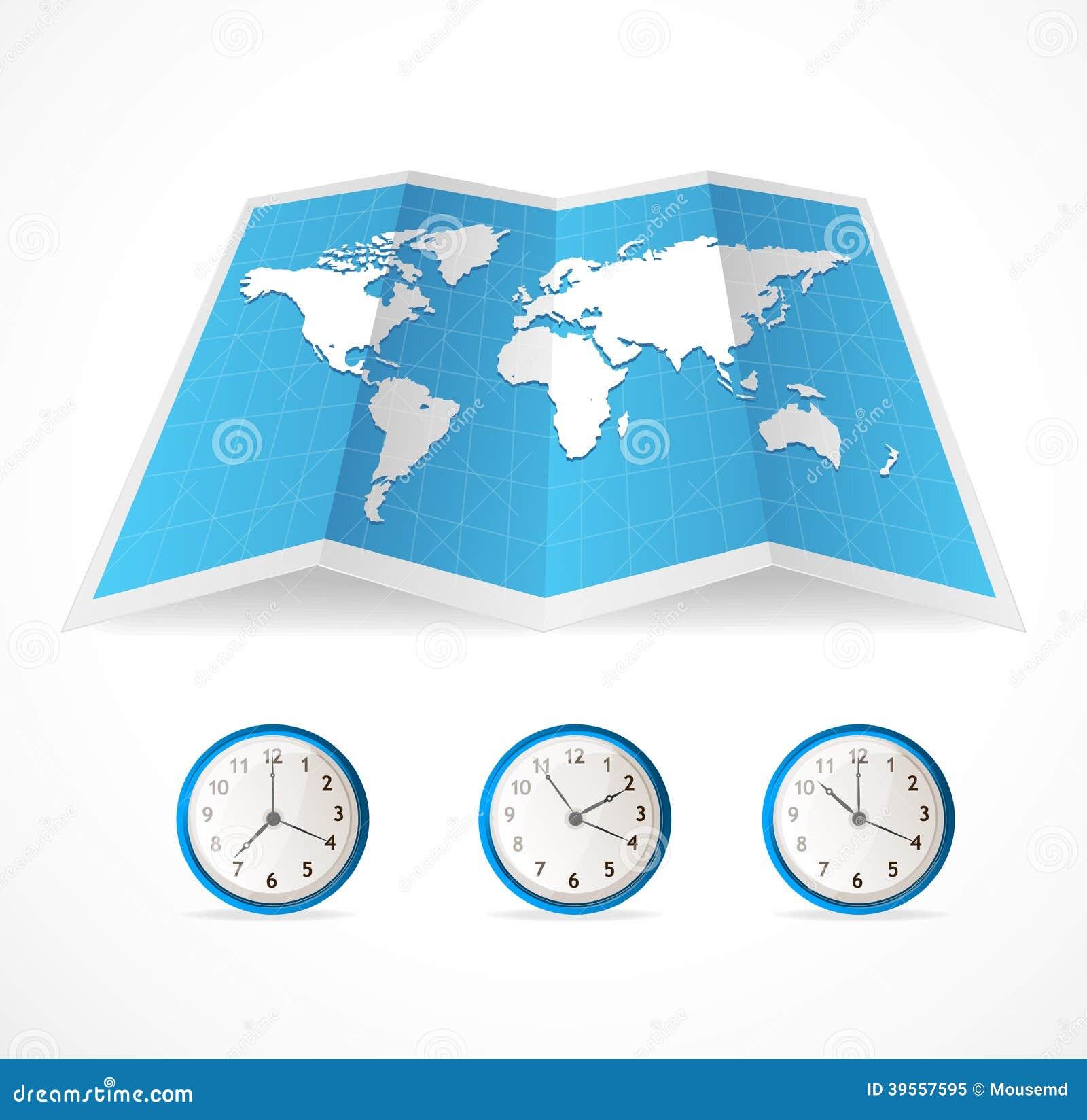 Stämpelurer för för vektoröversiktssymbol och värld