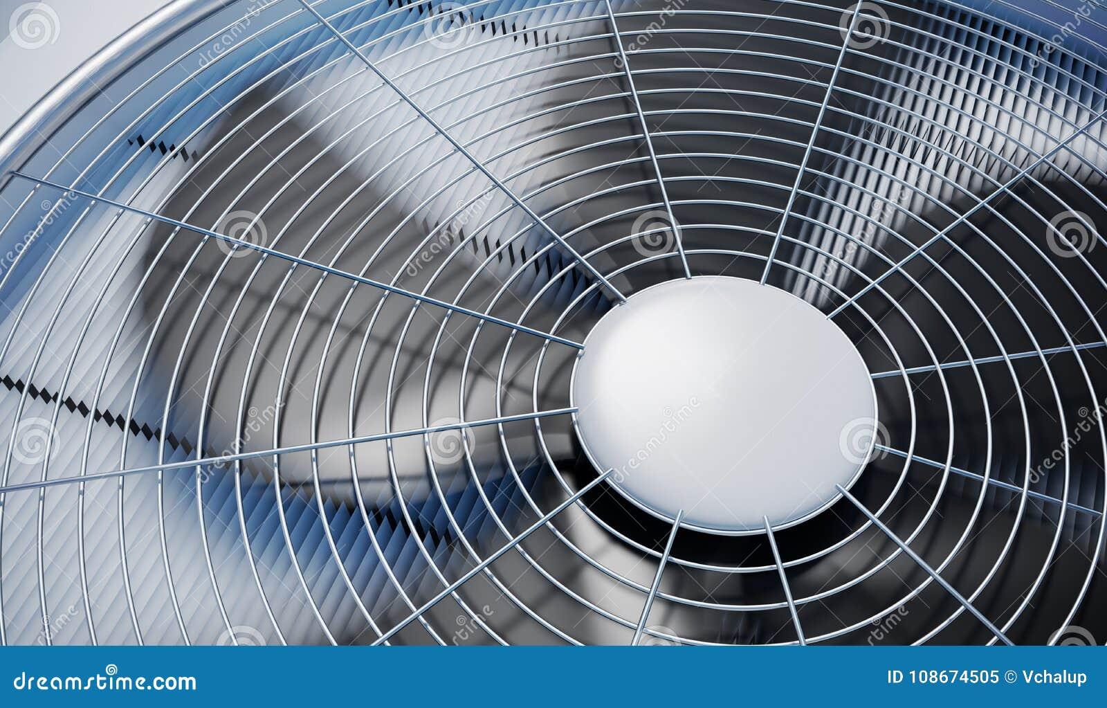 Stäng sig upp sikt på att värma för HVAC-enheter, ventilation och att betinga för luft framförd illustration 3d