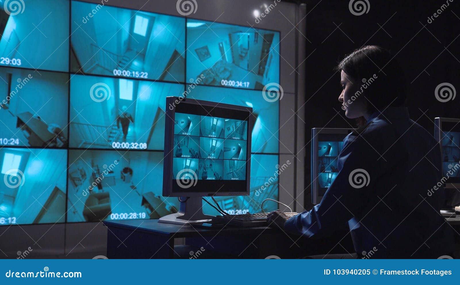 Stängt övervaka för person - strömkretsbevakning