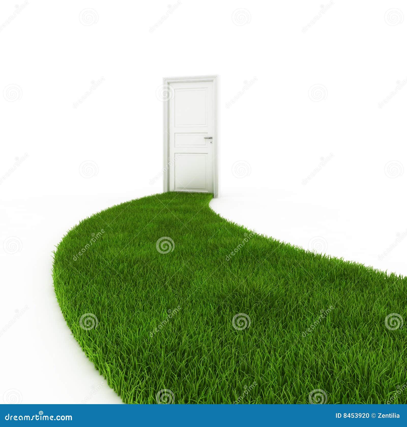 Stängt dörrvandringsledgräs