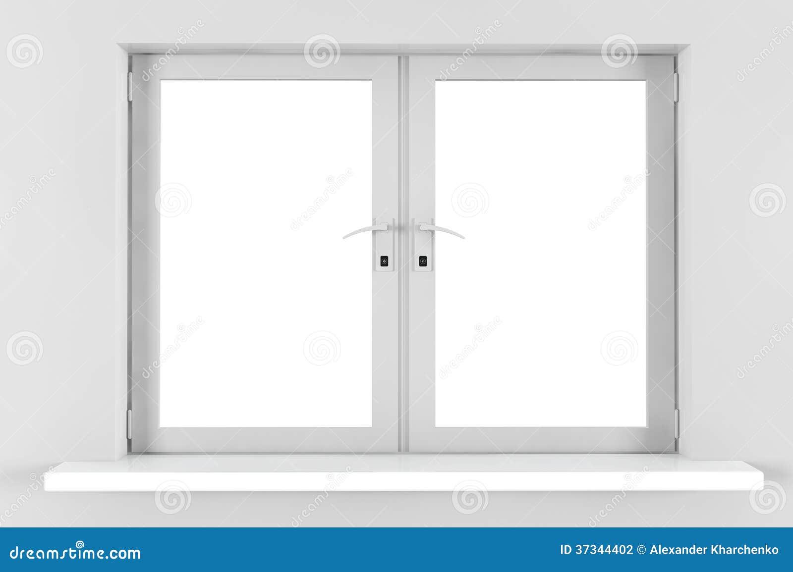 Stängt plast- fönster
