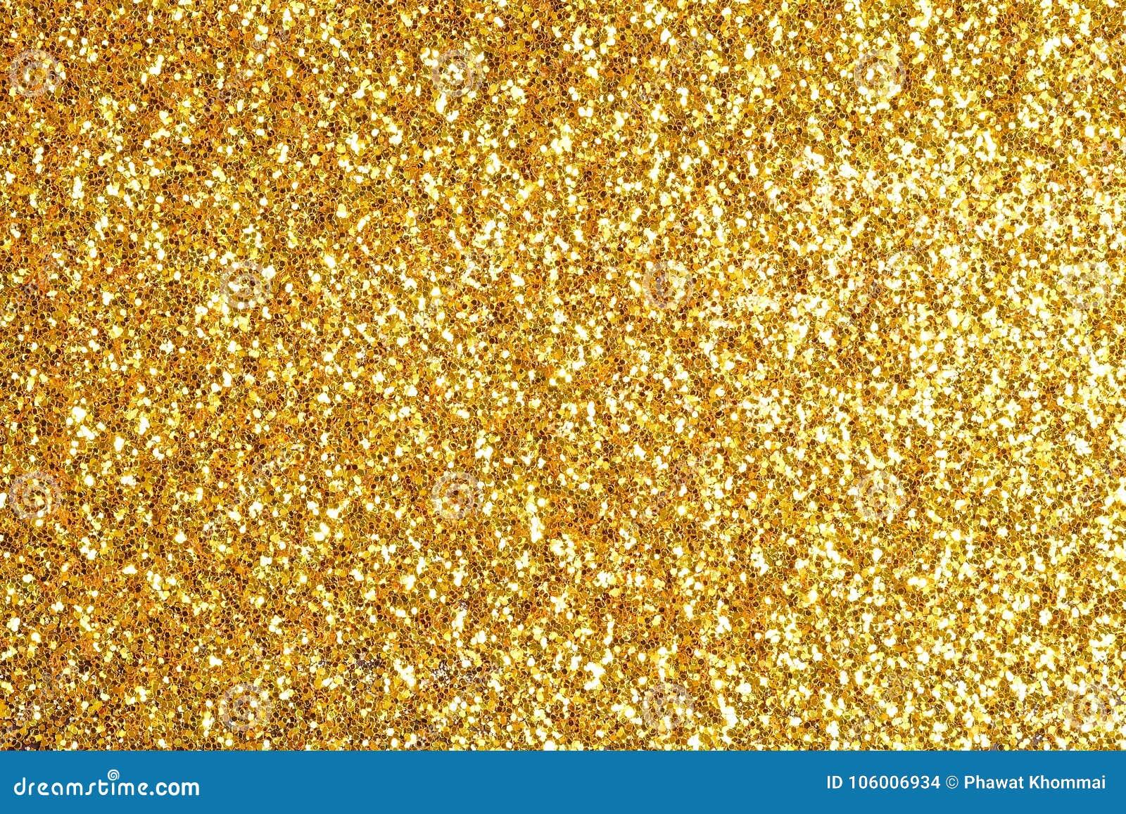 Stänket blänker guldstoftbakgrund