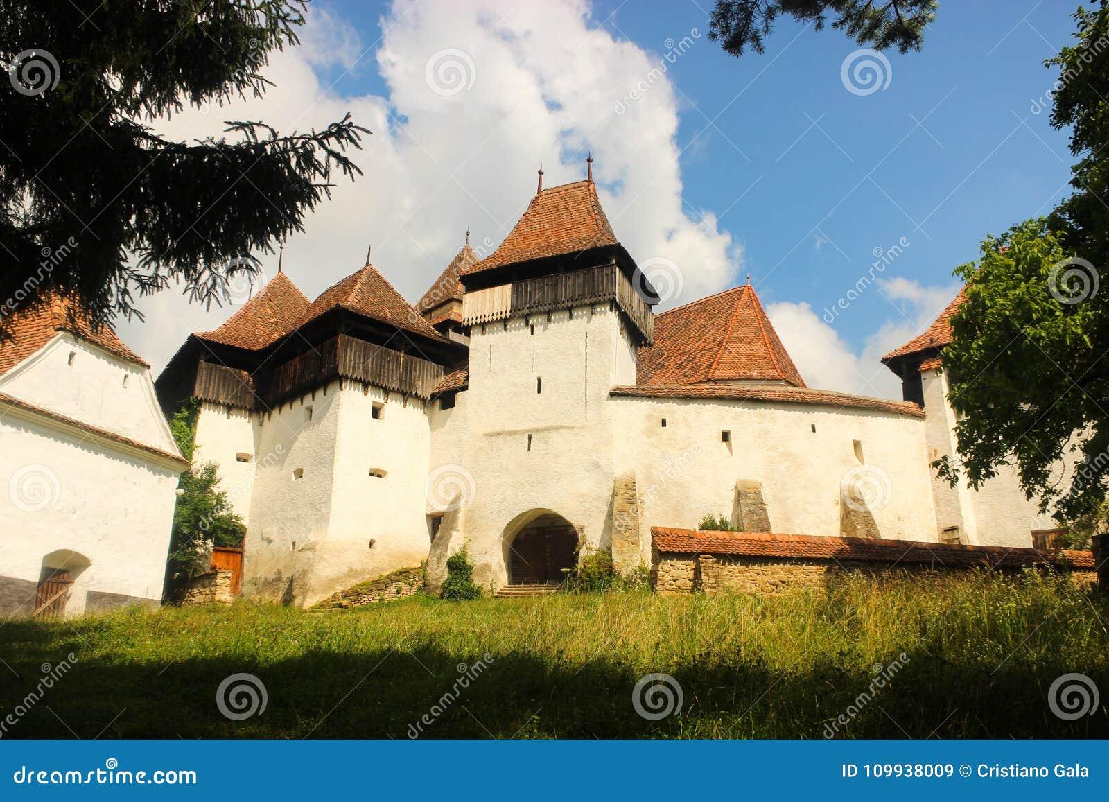 Stärkt kyrka av Viscri Rumänien