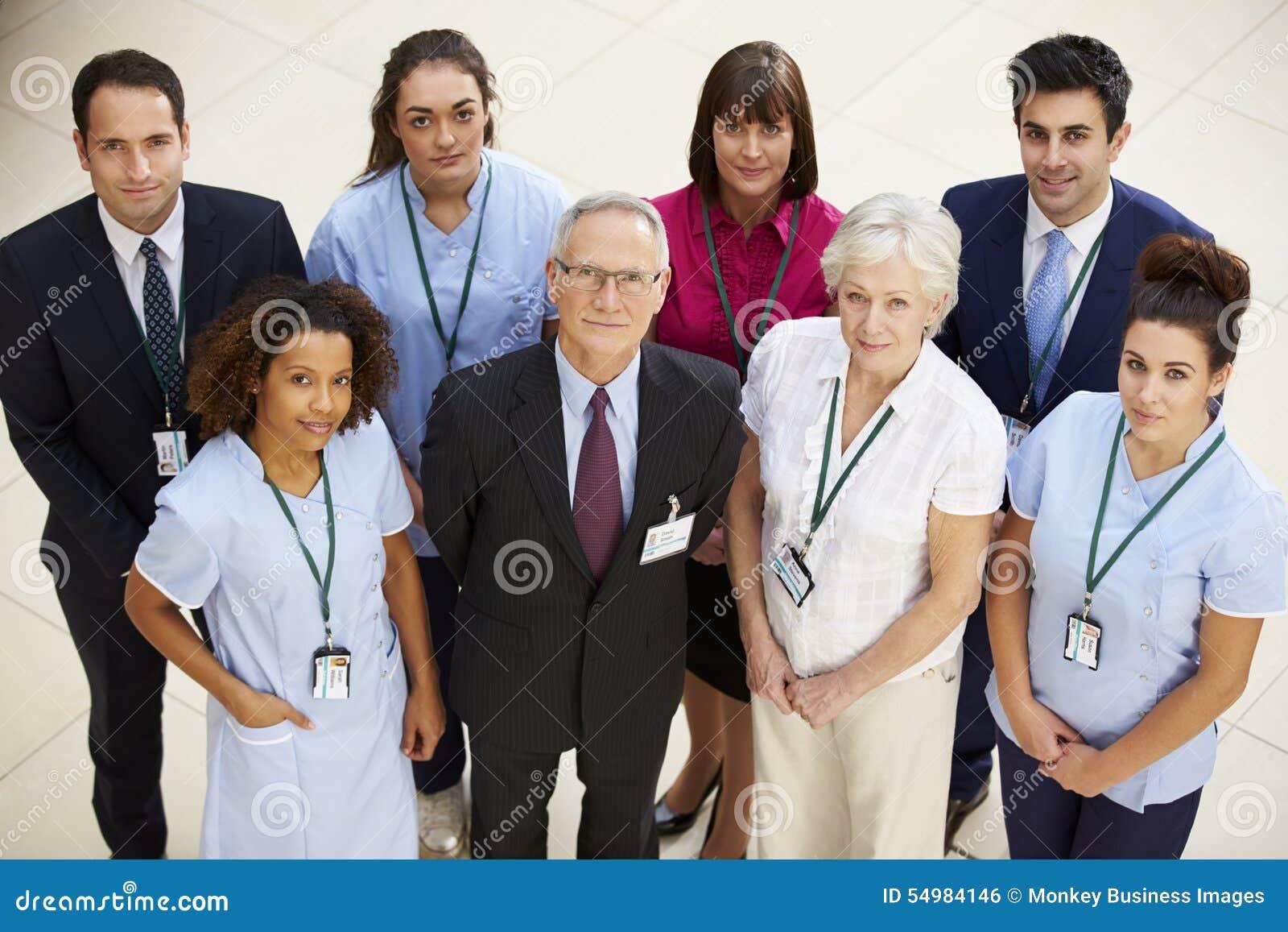 Stående av det medicinska laget för sjukhus