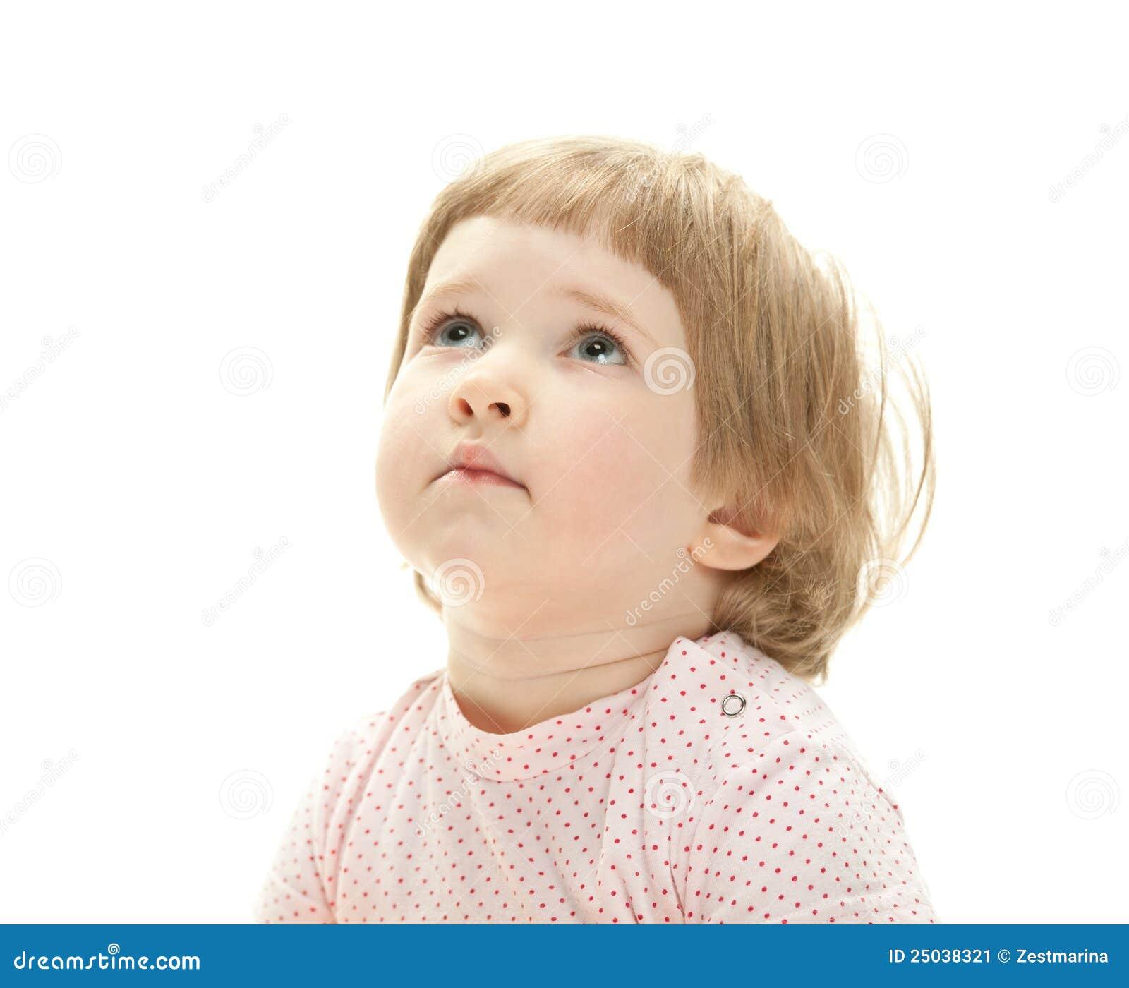 Stående av ett allvarligt barn
