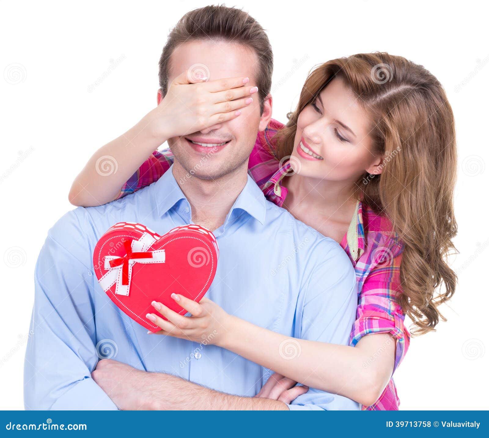 Stående av härliga lyckliga par.
