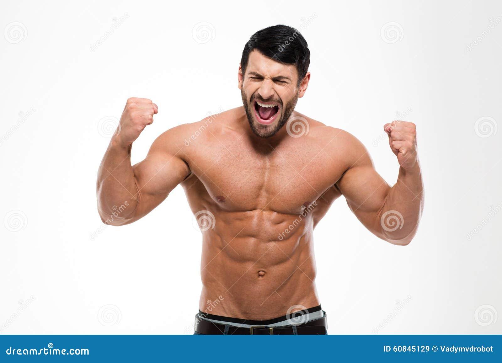Stående av stiligt muskulöst ropa för man